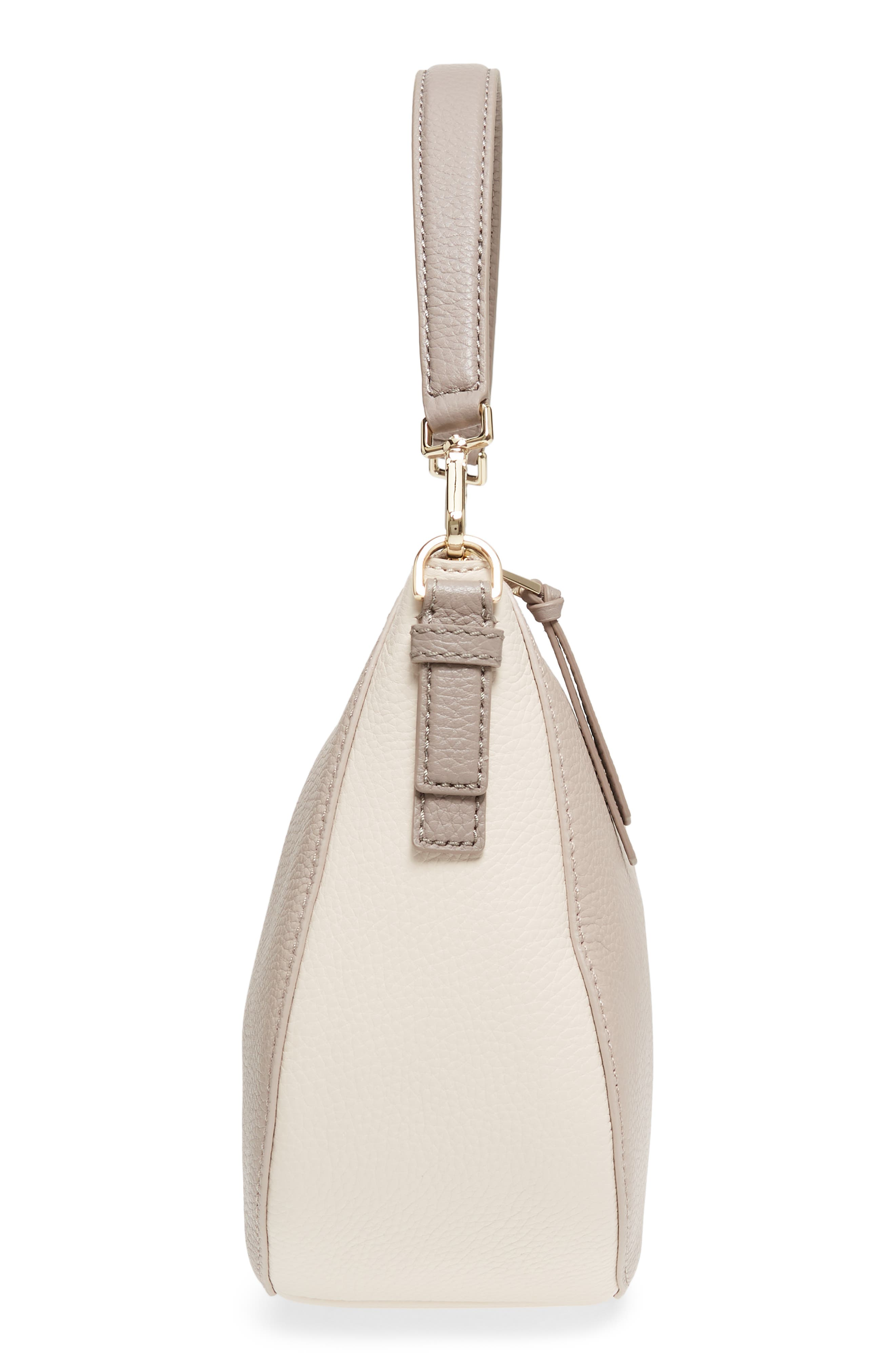jackson street small mylie leather hobo,                             Alternate thumbnail 6, color,                             100