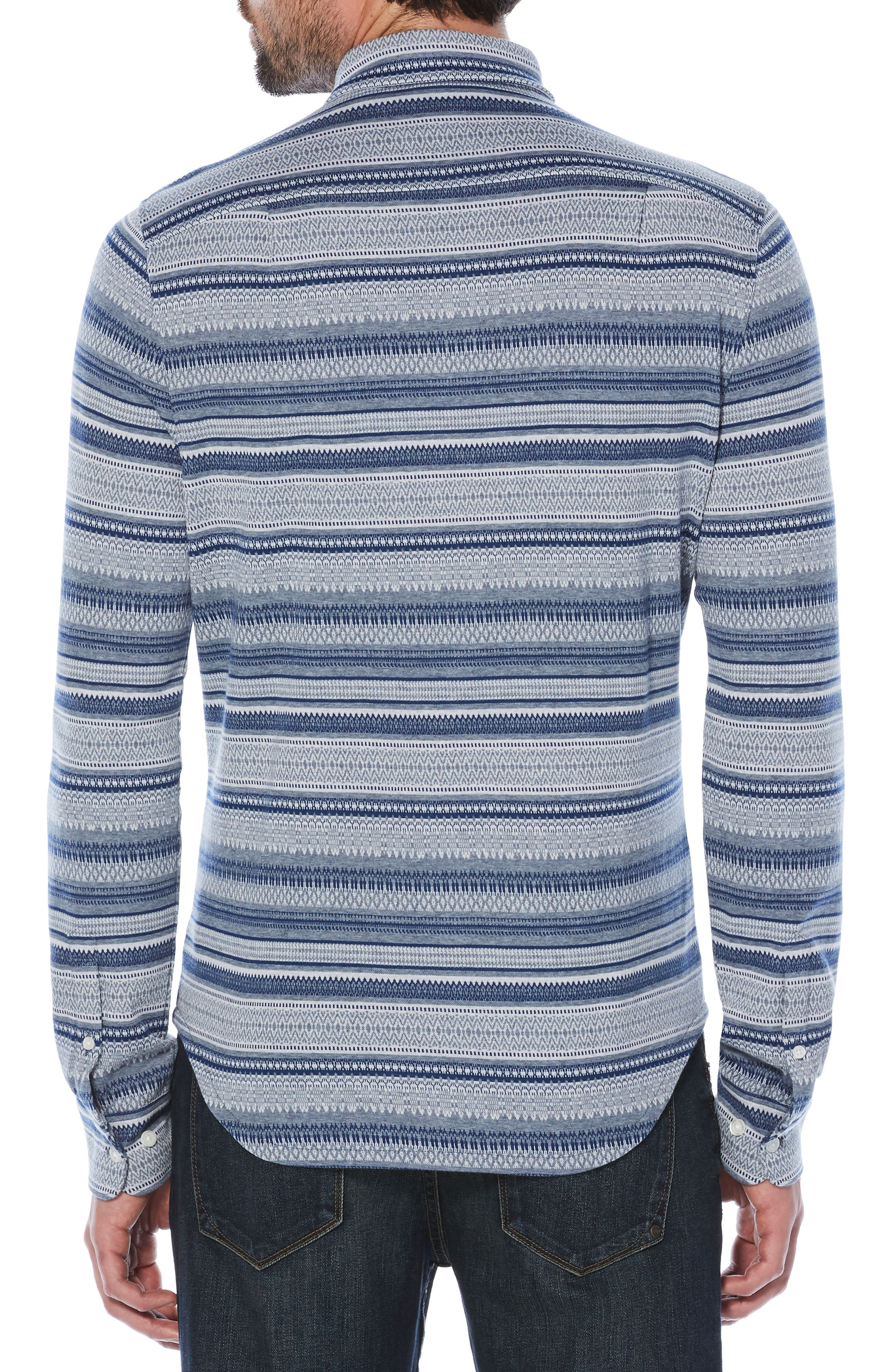 Fair Isle Knit Shirt,                             Alternate thumbnail 2, color,                             400