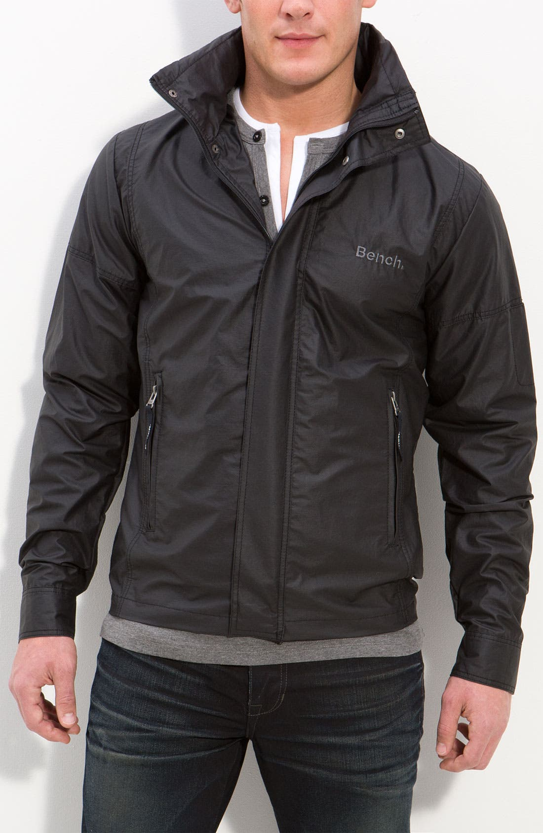 'Alternative S' Waxed Jacket,                         Main,                         color, 001