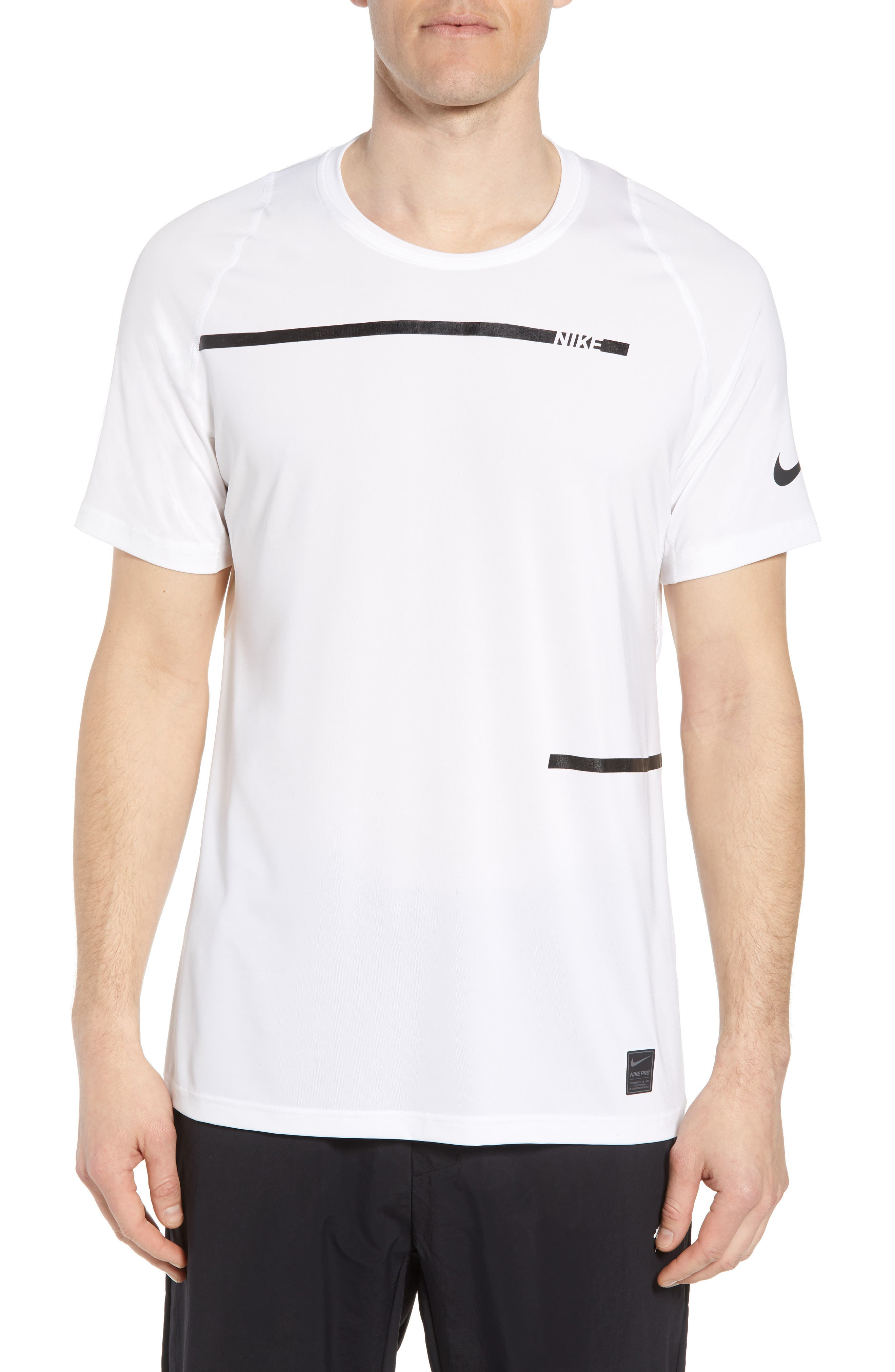 Nike Pro Dry Logo T-Shirt, White