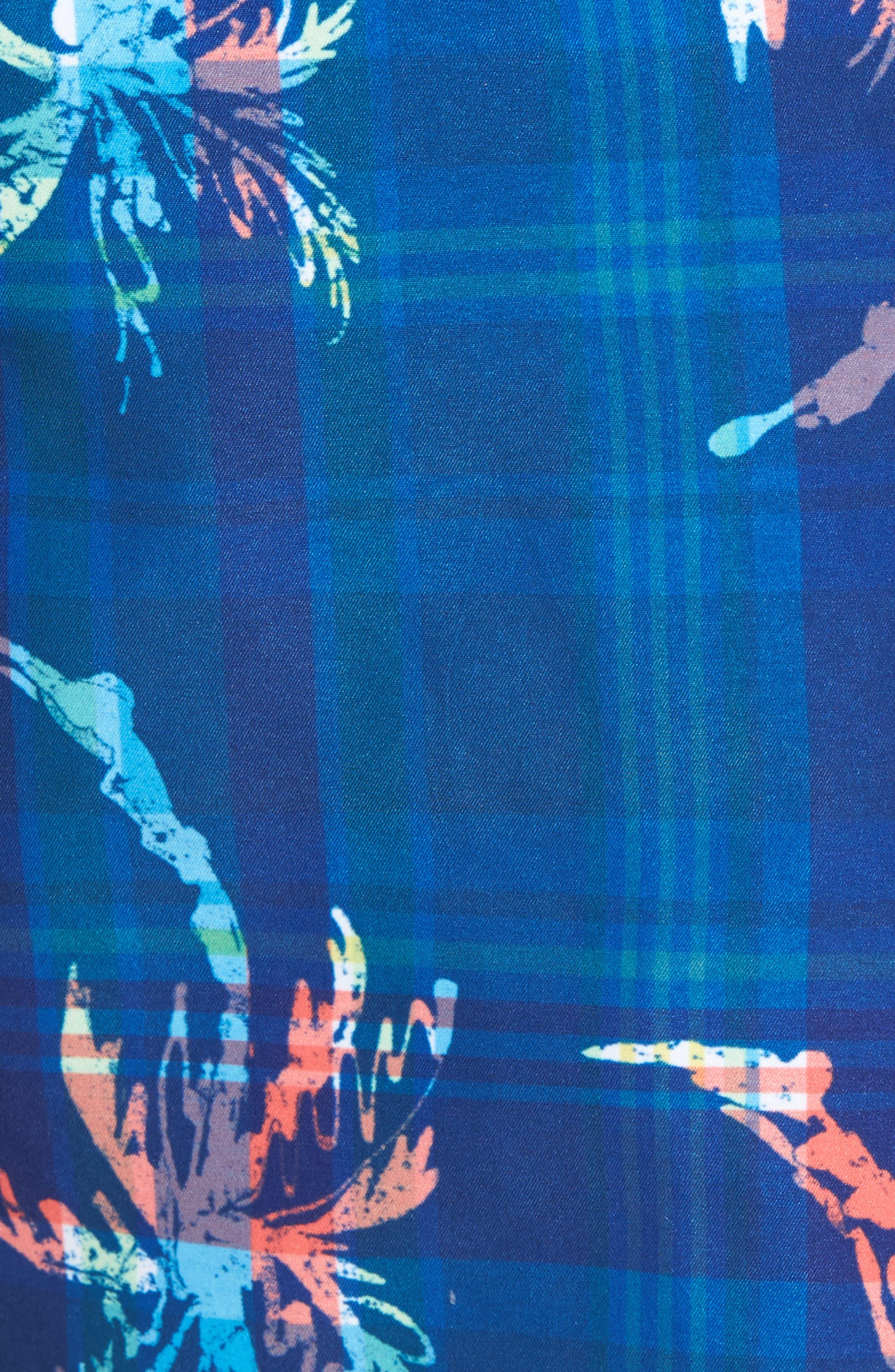 Baja Palm Illusion Swim Trunks,                             Alternate thumbnail 5, color,                             400