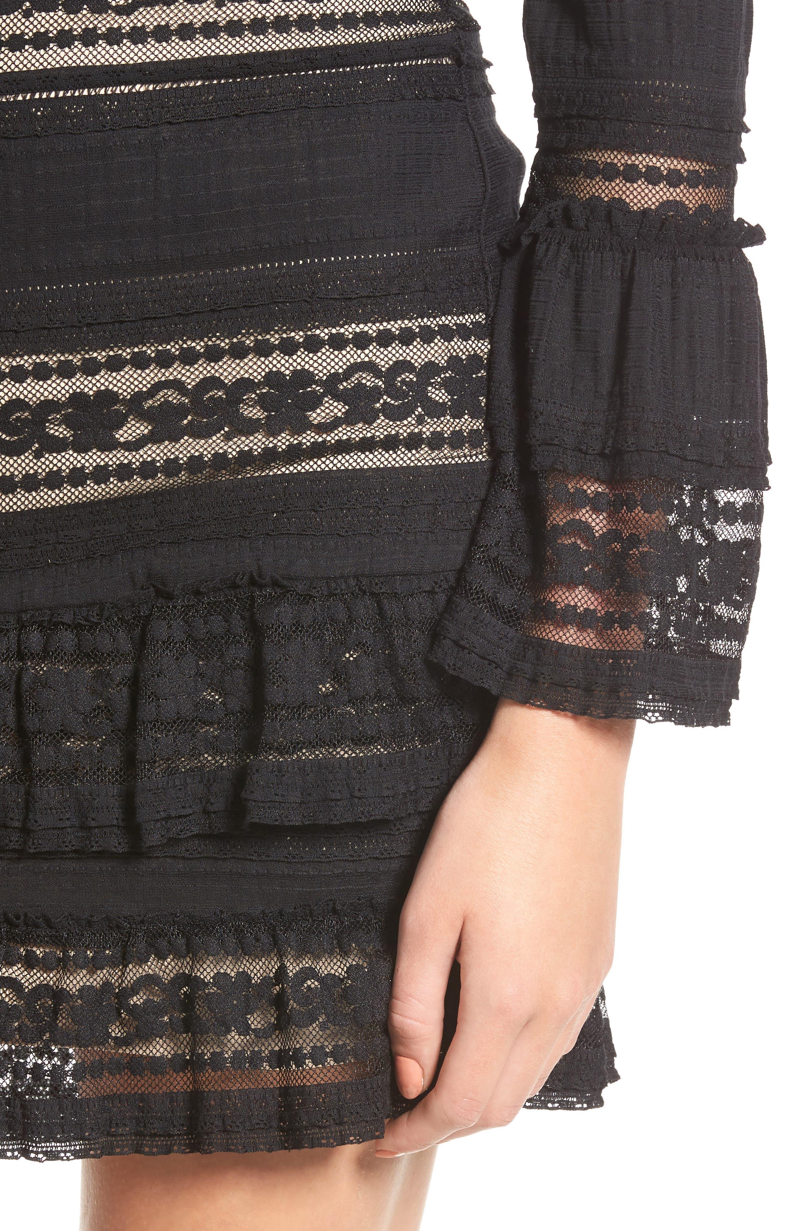 Topanga Lace Sheath Dress,                             Alternate thumbnail 4, color,