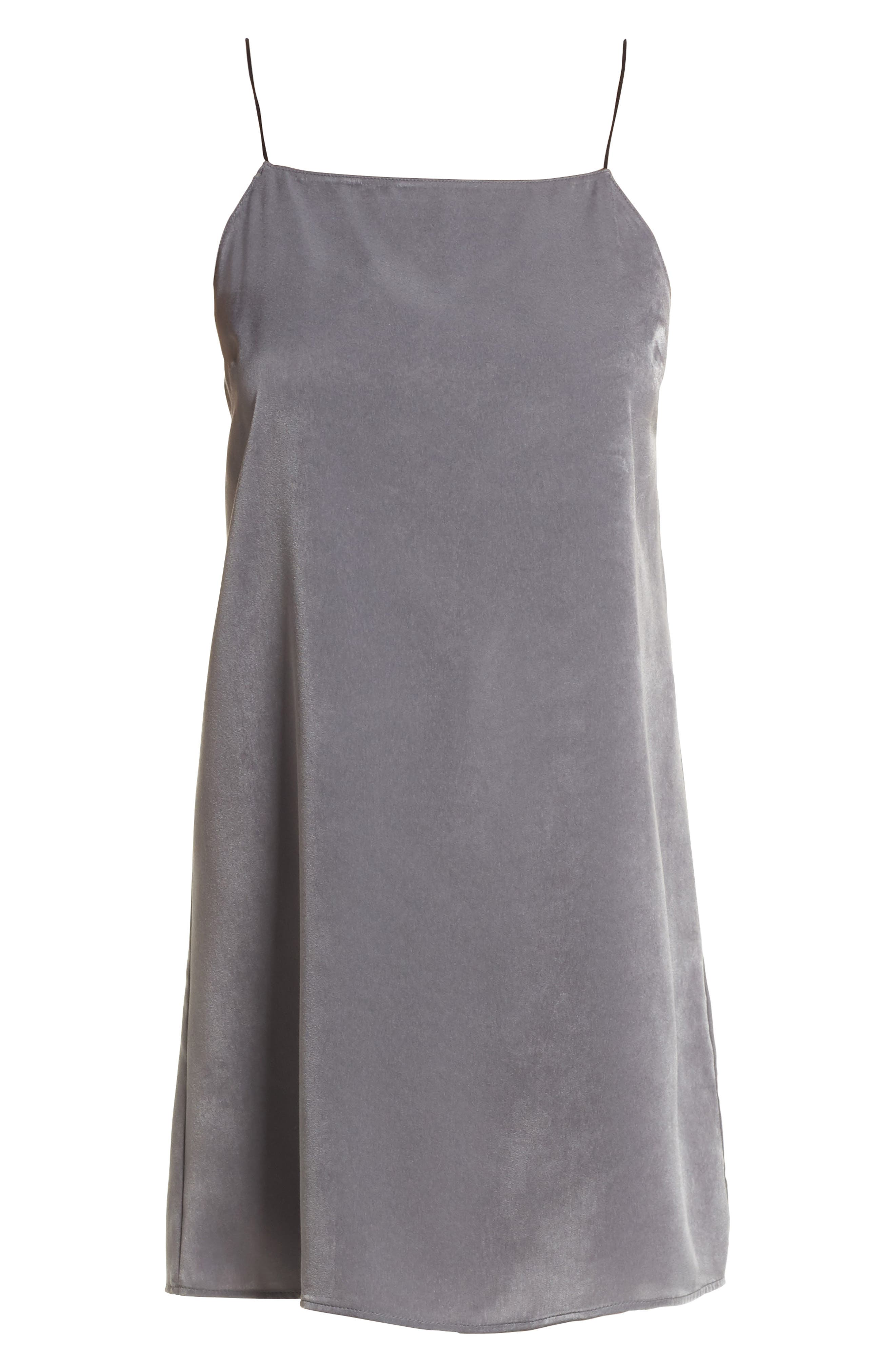Square Neck Slipdress,                             Alternate thumbnail 6, color,                             060