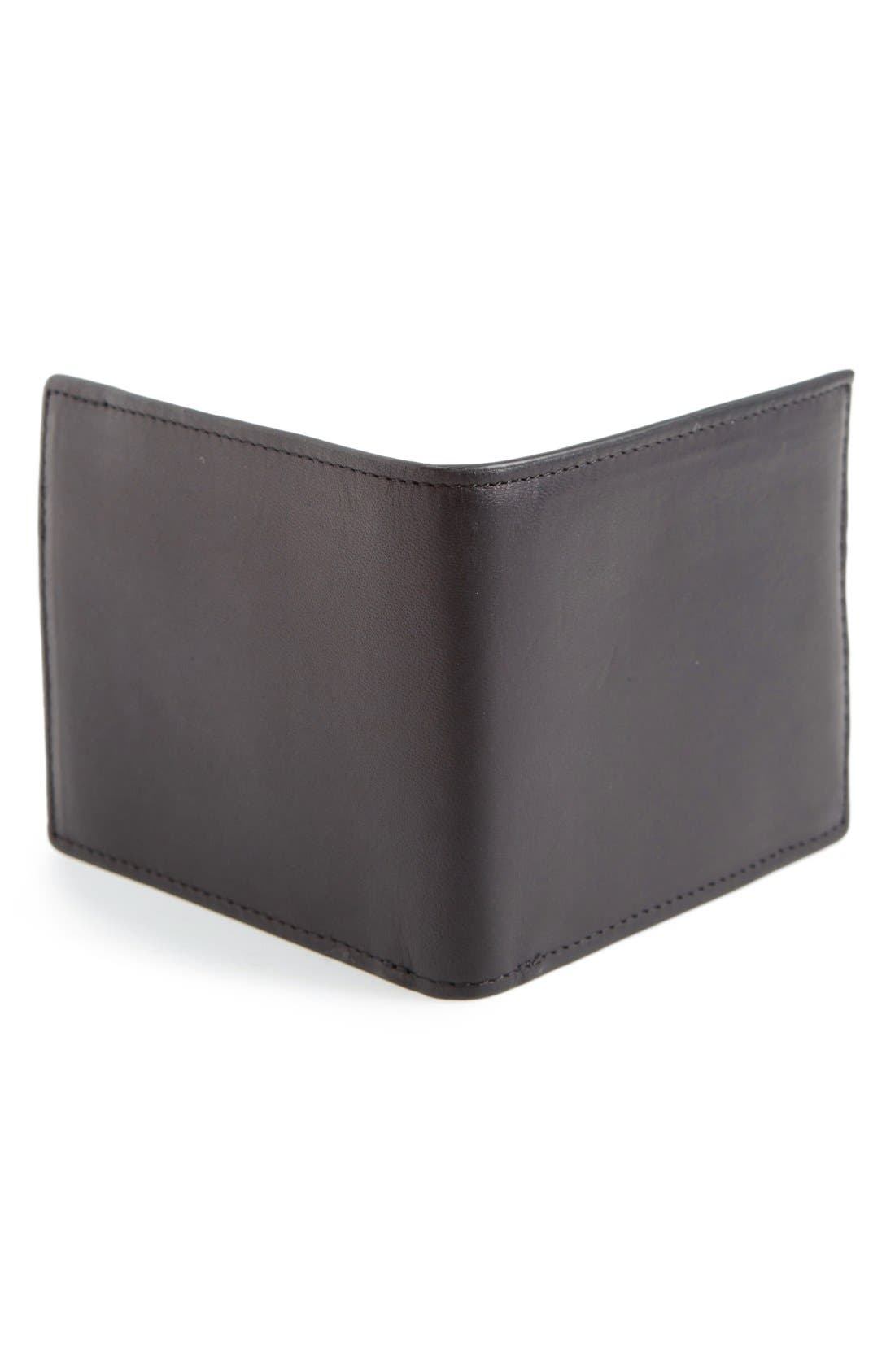 Hampshire Leather Bifold Wallet,                             Alternate thumbnail 3, color,                             002