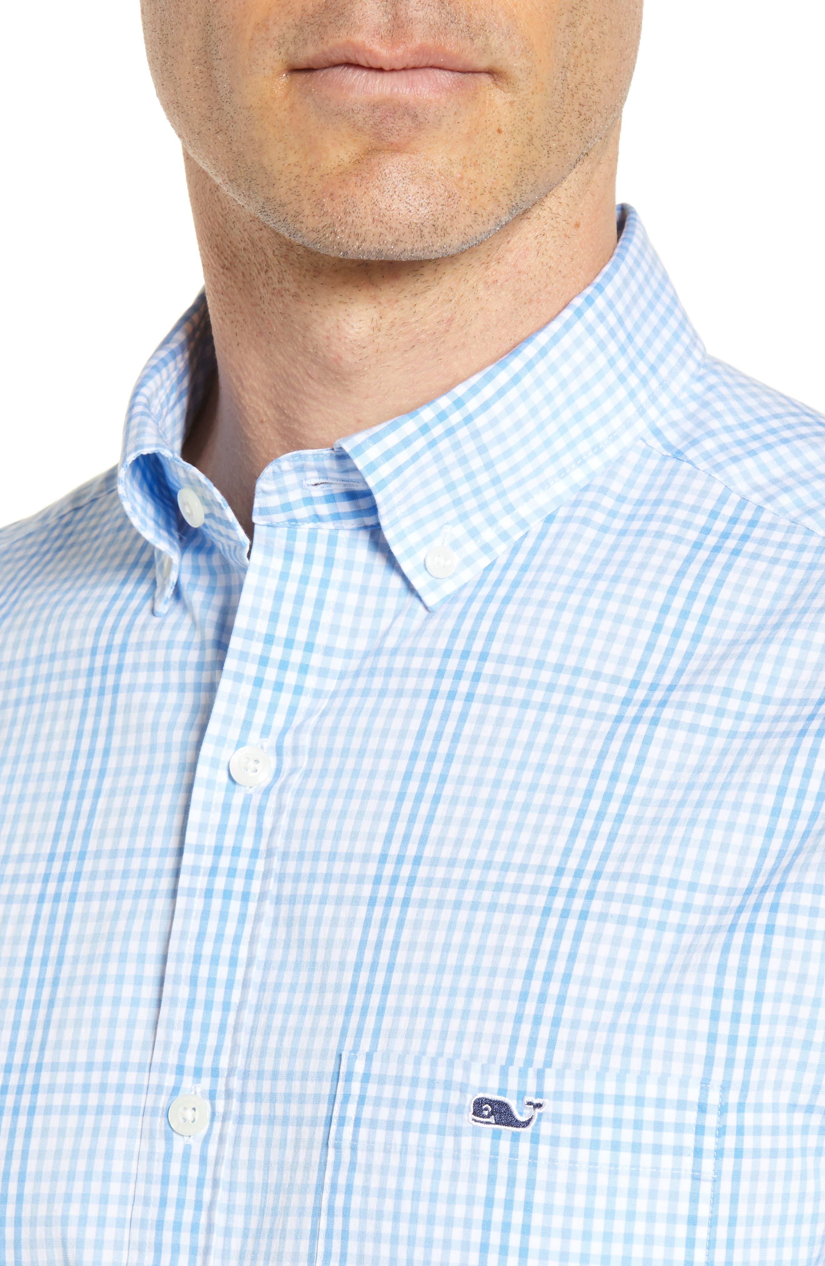 Ridge Hill Classic Fit Check Sport Shirt,                             Alternate thumbnail 4, color,