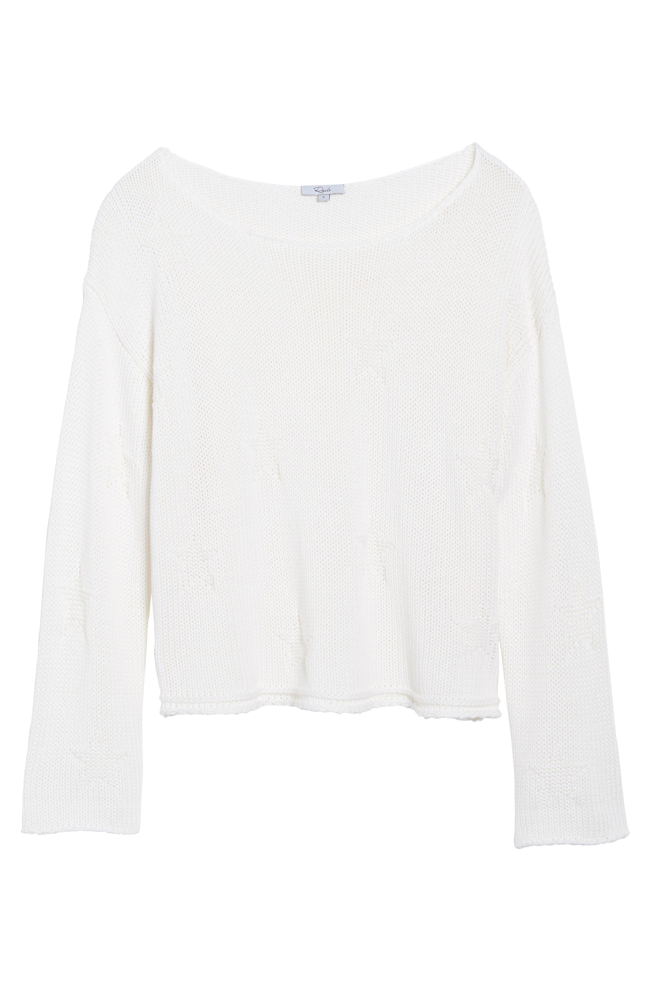 Kalani Star Sweater,                             Alternate thumbnail 6, color,