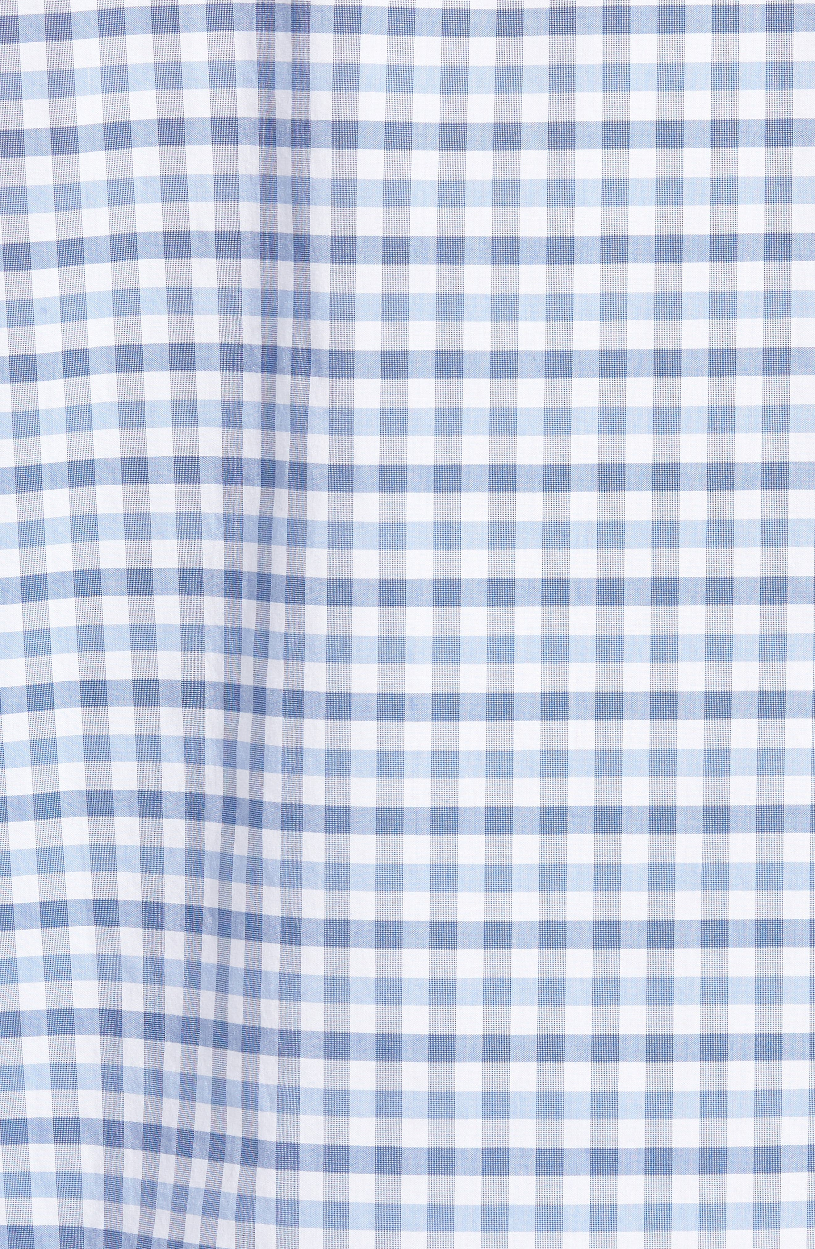 Shorecliffe Regular Fit Gingham Sport Shirt,                             Alternate thumbnail 5, color,                             414