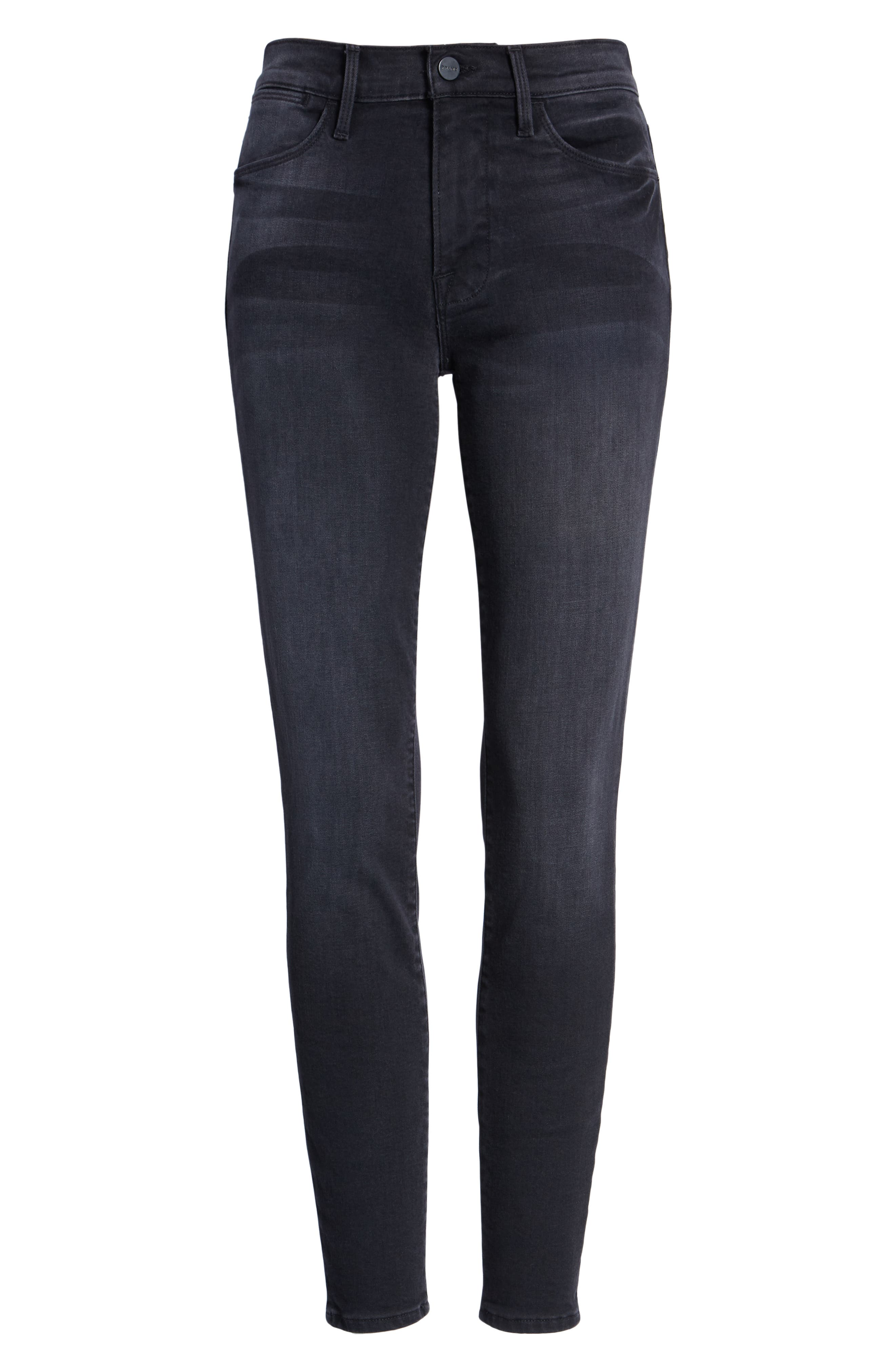 Le High Skinny Jeans,                             Alternate thumbnail 7, color,                             NIGHTFALL