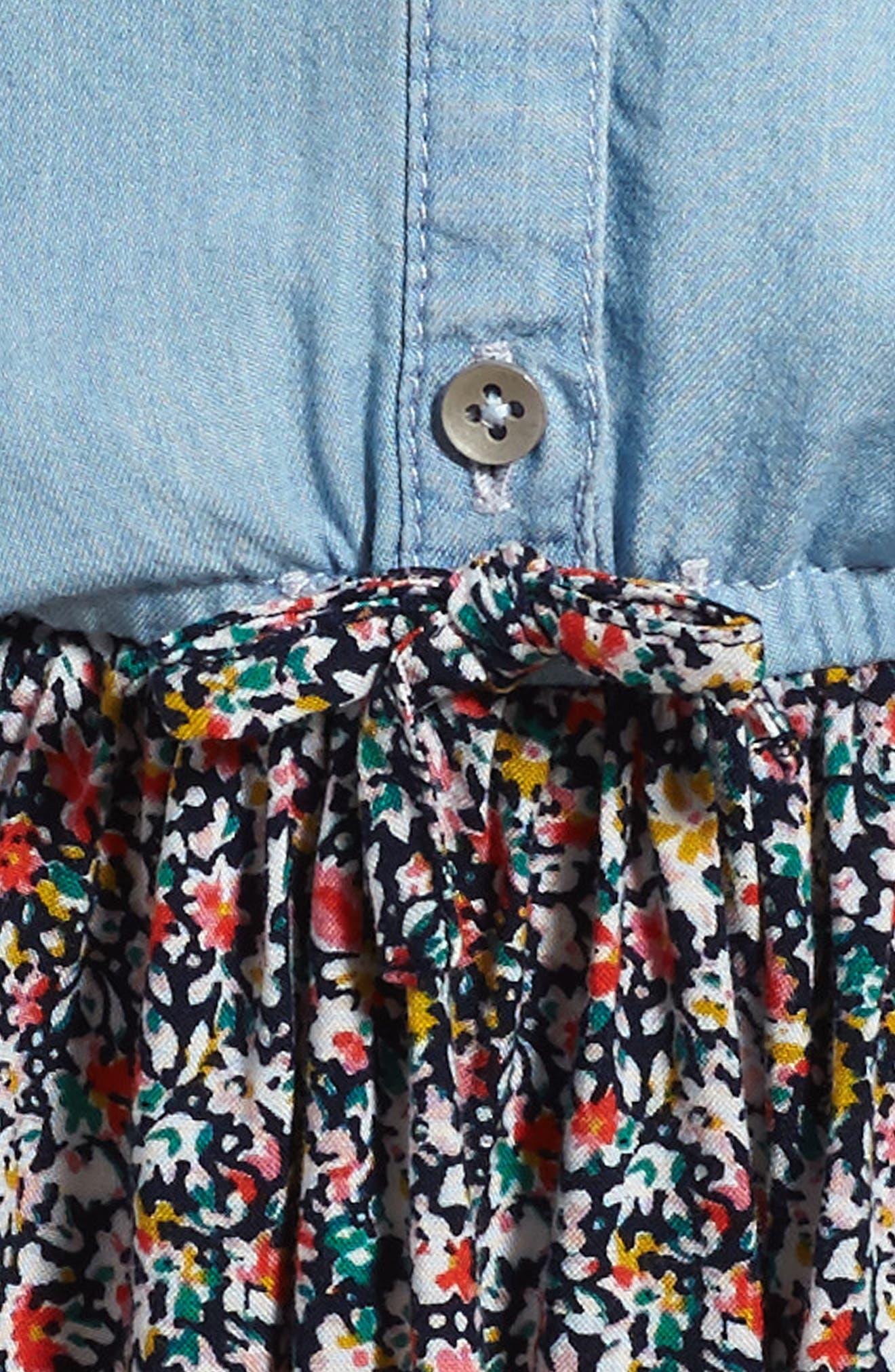 Mixed Media Dress,                             Alternate thumbnail 3, color,                             450