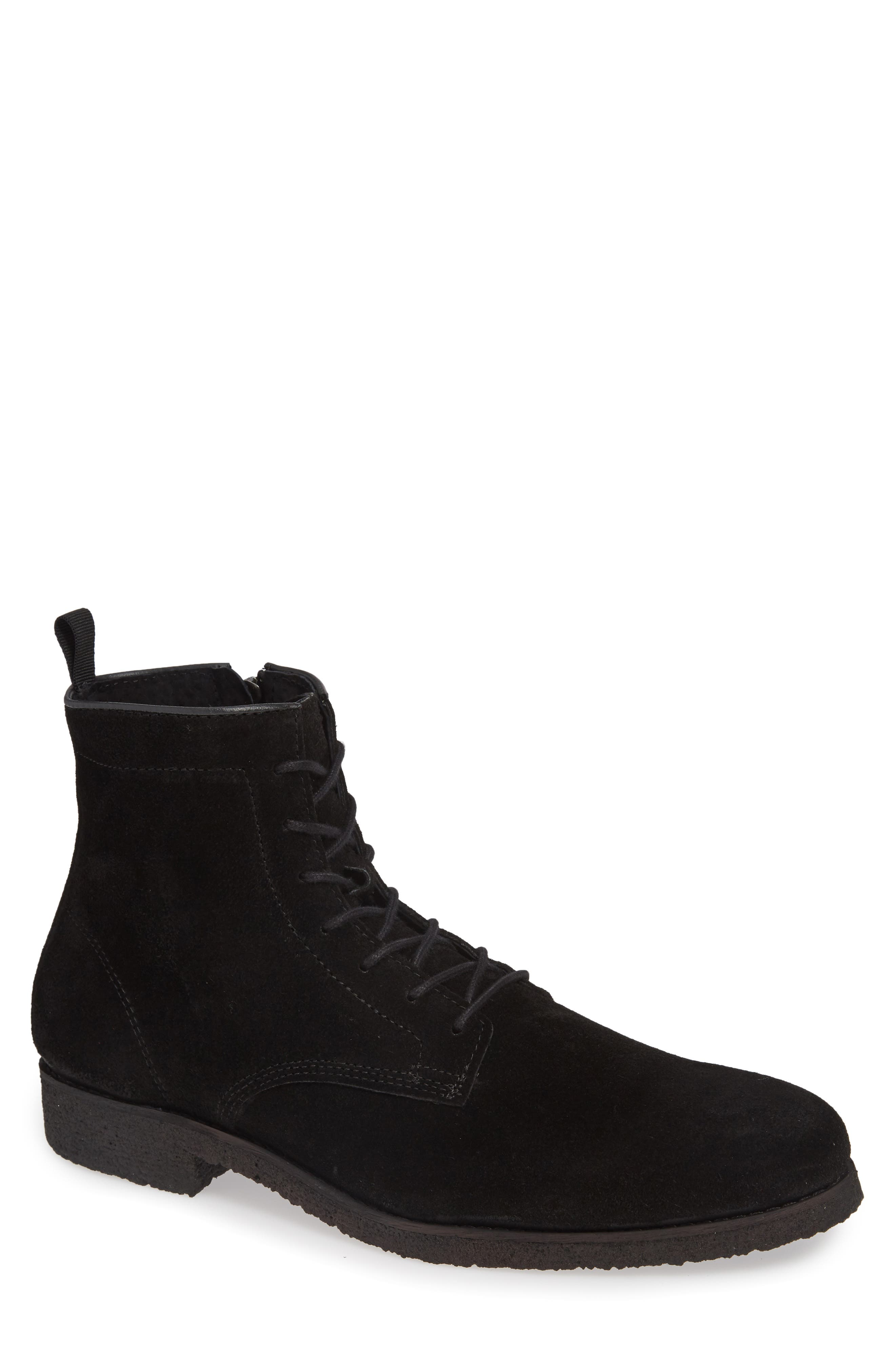 SUPPLY LAB Jonah Plain Toe Boot in Black Suede