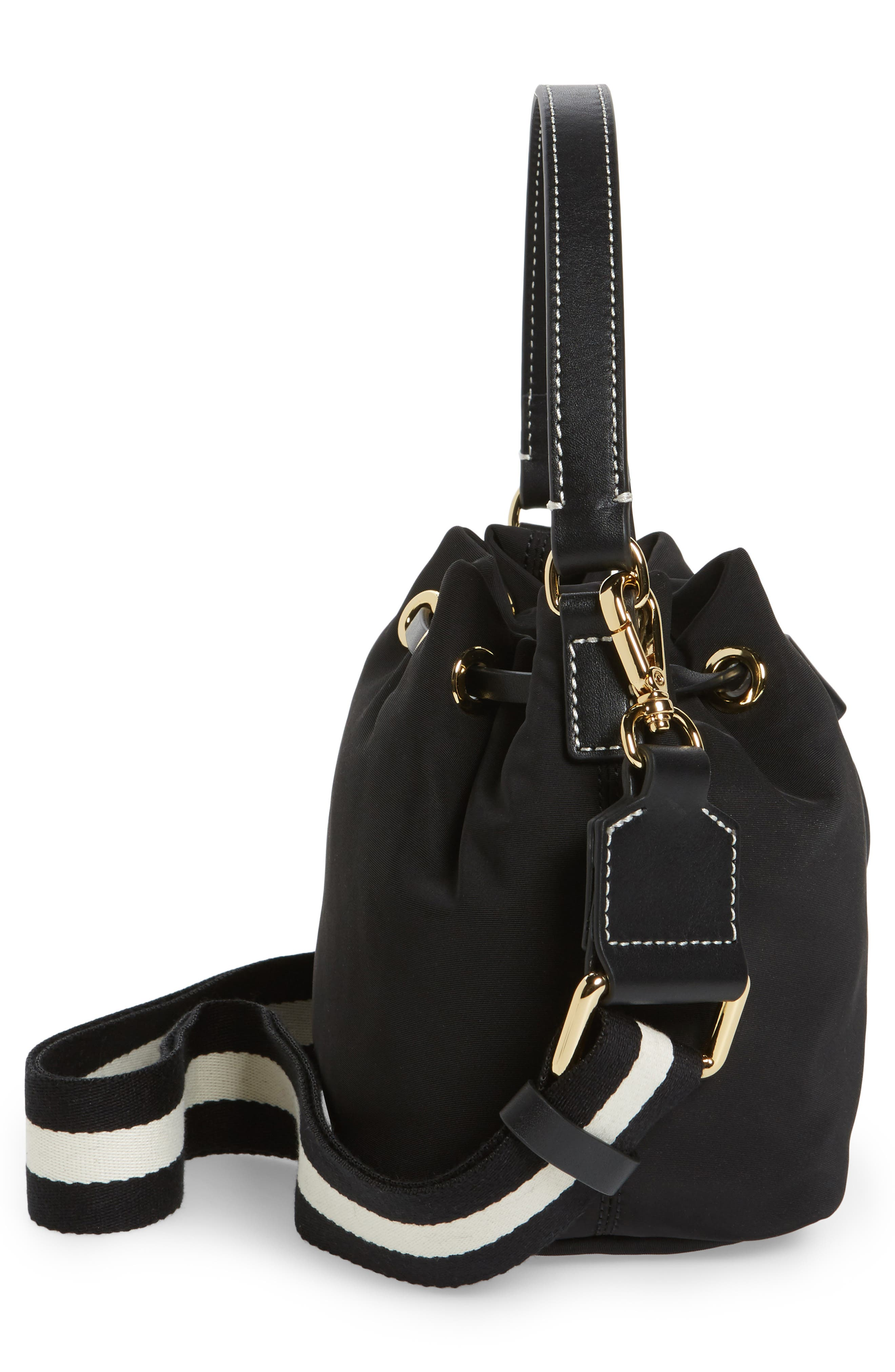 Small Ann Nylon Bucket Bag,                             Alternate thumbnail 17, color,
