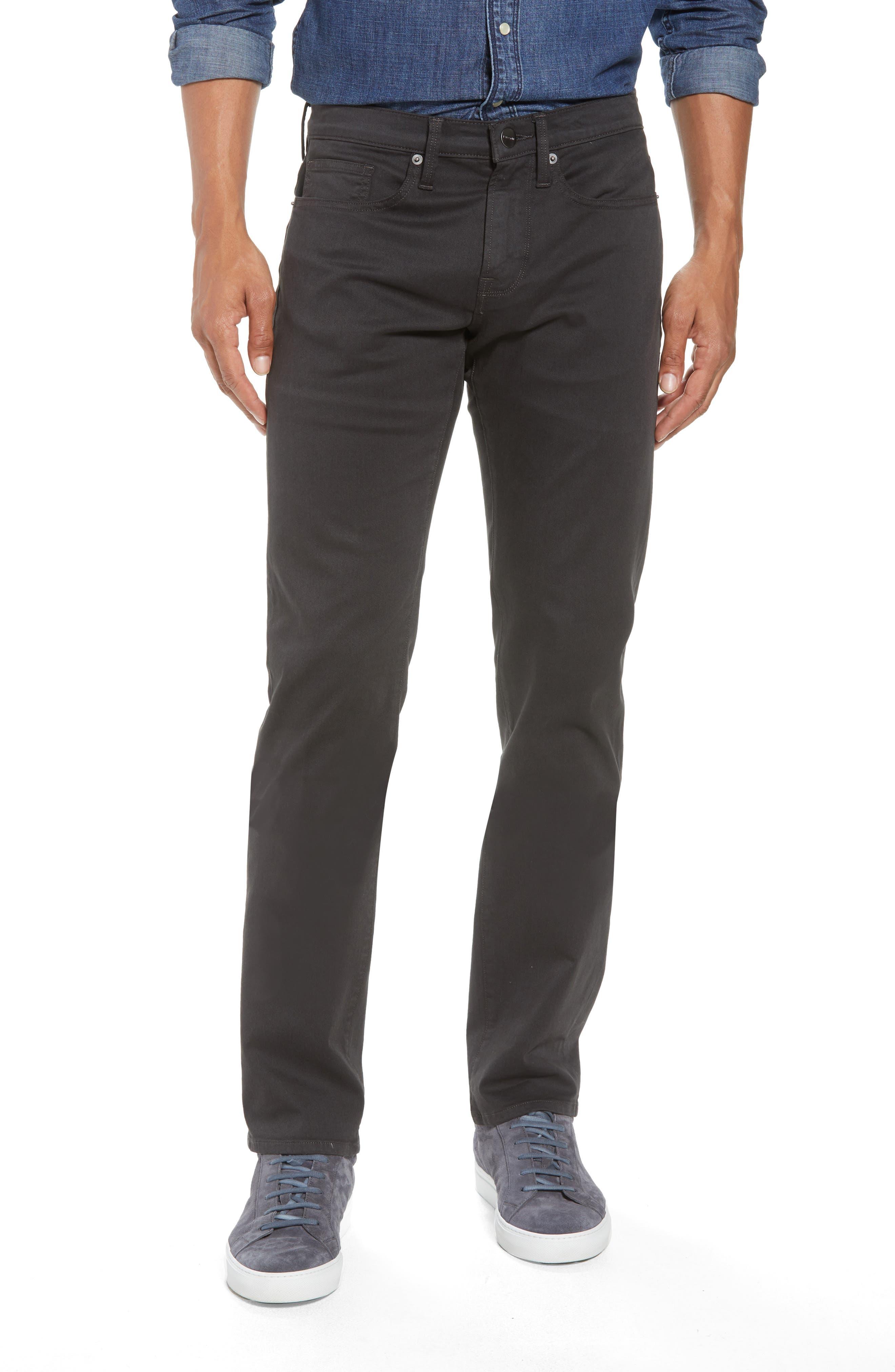 L'Homme Slim Fit Chino Pants,                         Main,                         color, HEMATITE