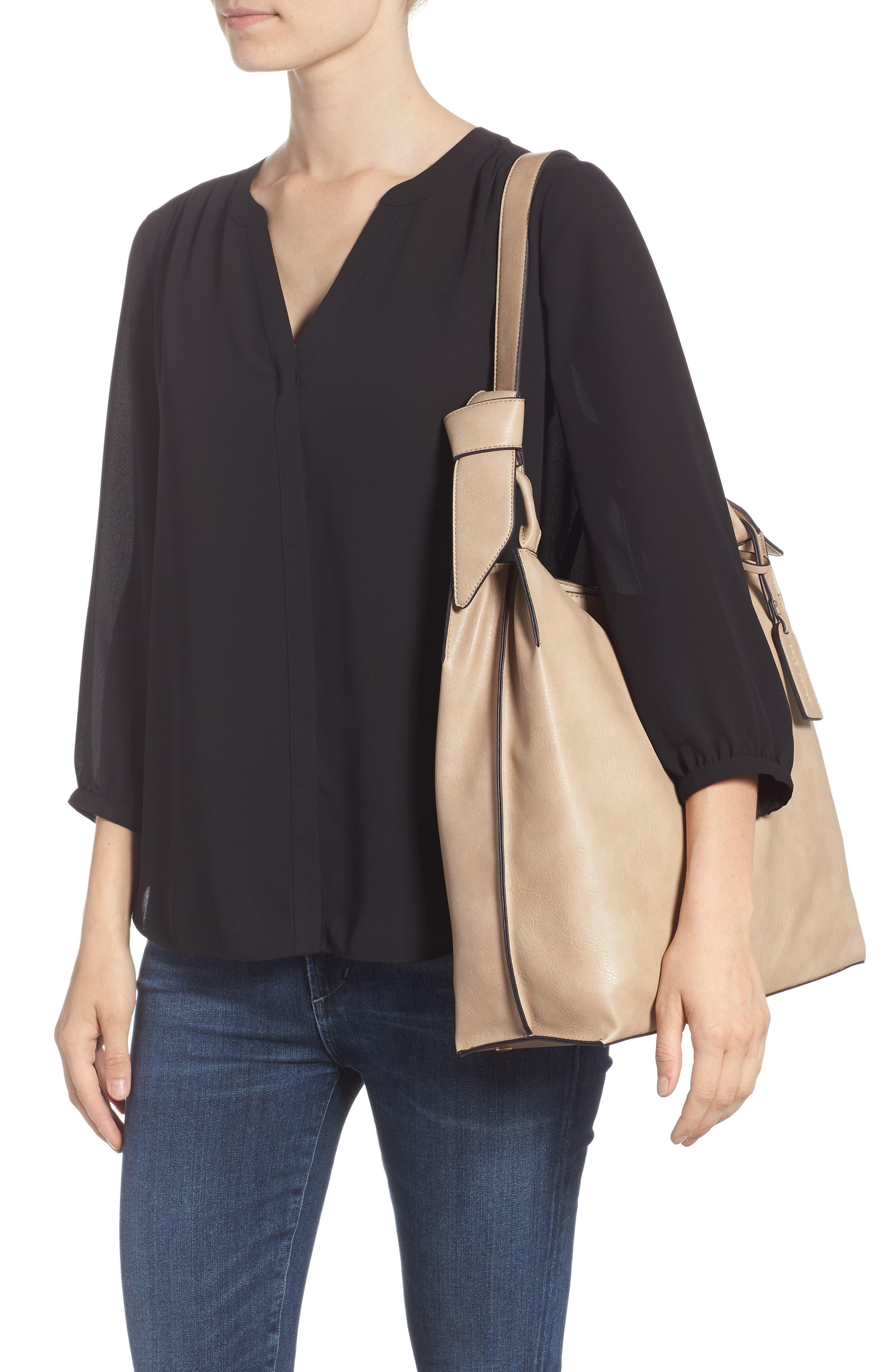Josah Faux Leather Shoulder Bag,                             Alternate thumbnail 2, color,                             SAFARI