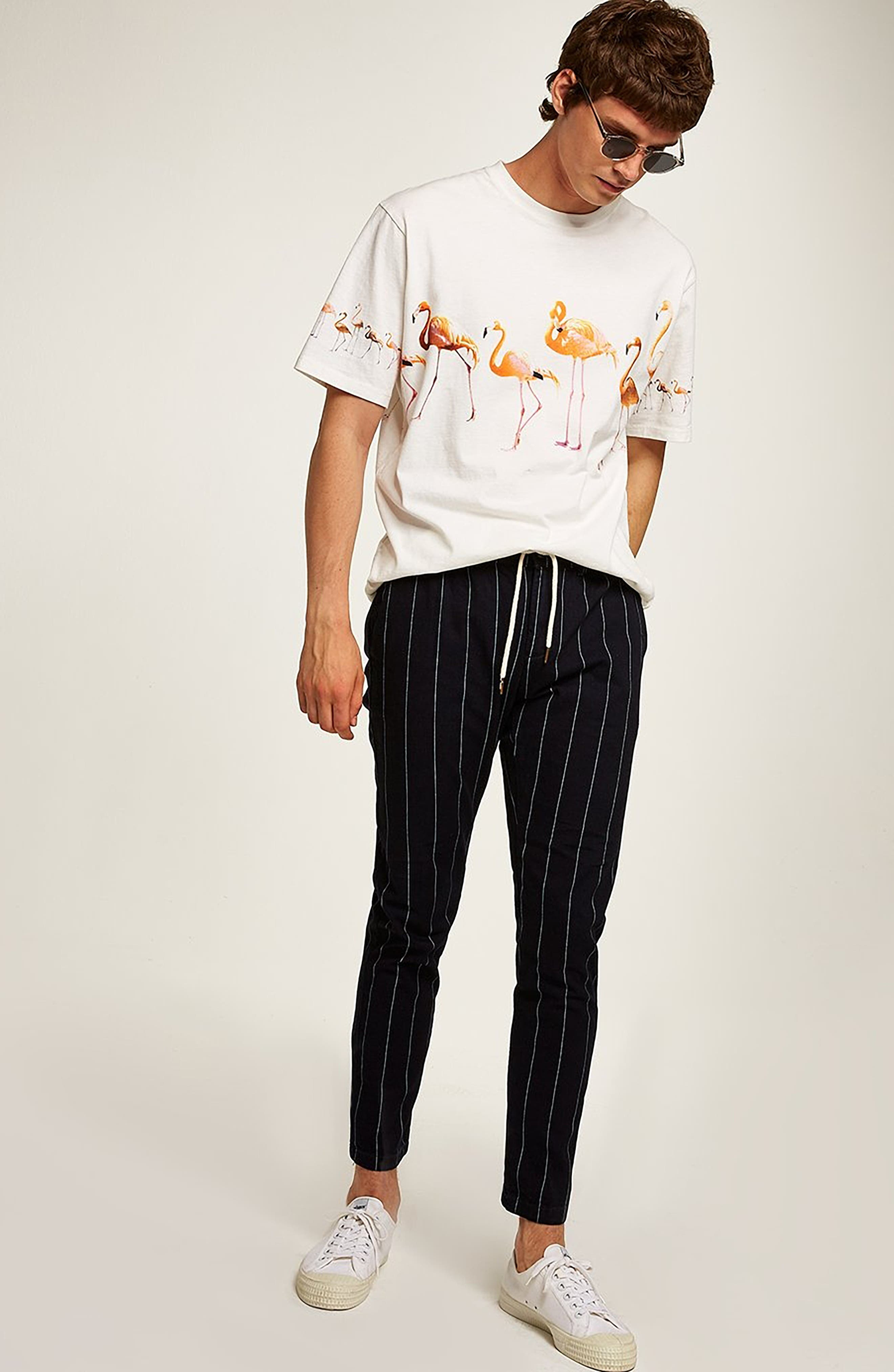 Pinstripe Skinny Trousers,                             Alternate thumbnail 5, color,                             411