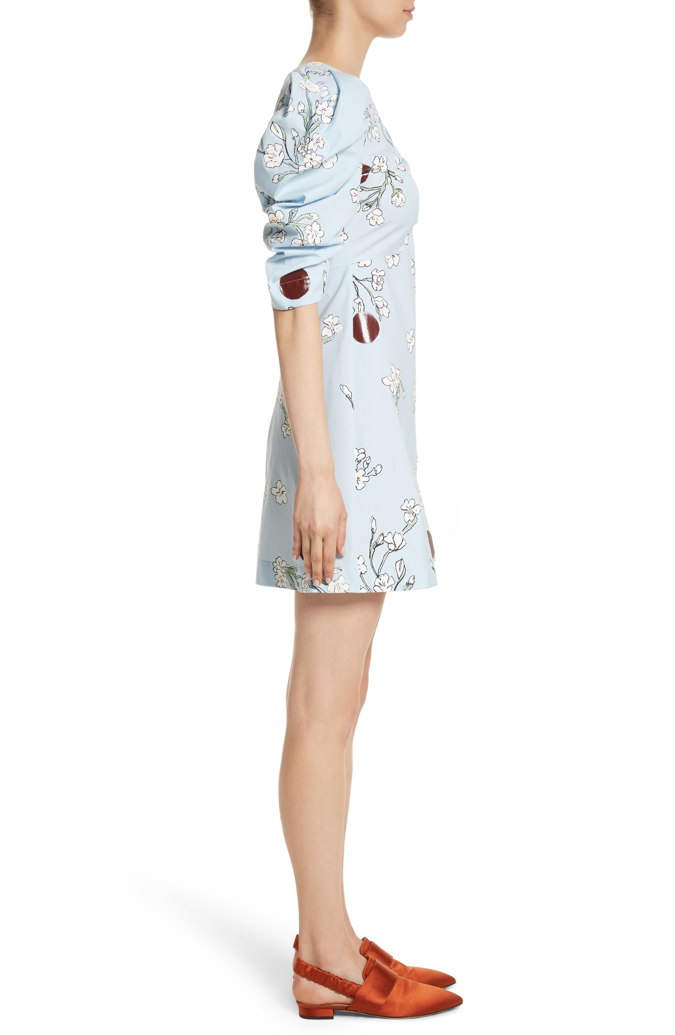 Wow Puff Sleeve Dress,                             Alternate thumbnail 3, color,                             400