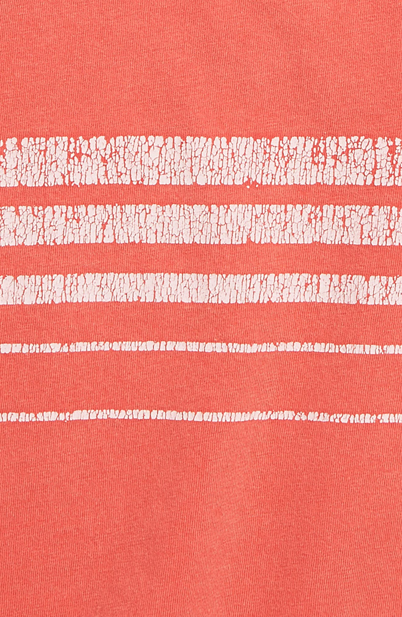 TREASURE & BOND,                             Stripe Tee,                             Alternate thumbnail 2, color,                             RED BITTERSWEET