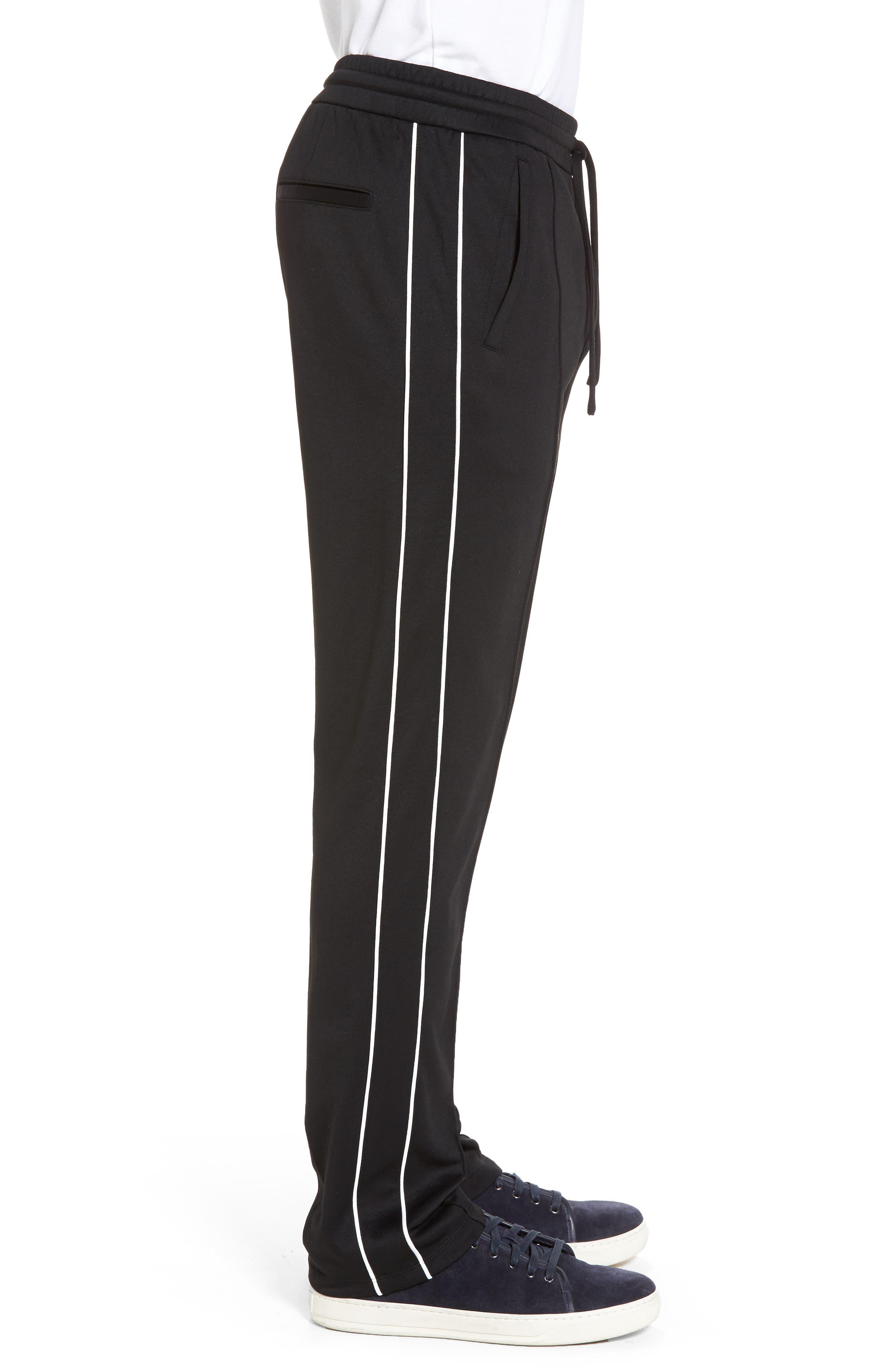 Slim Fit Track Pants,                             Alternate thumbnail 3, color,                             001