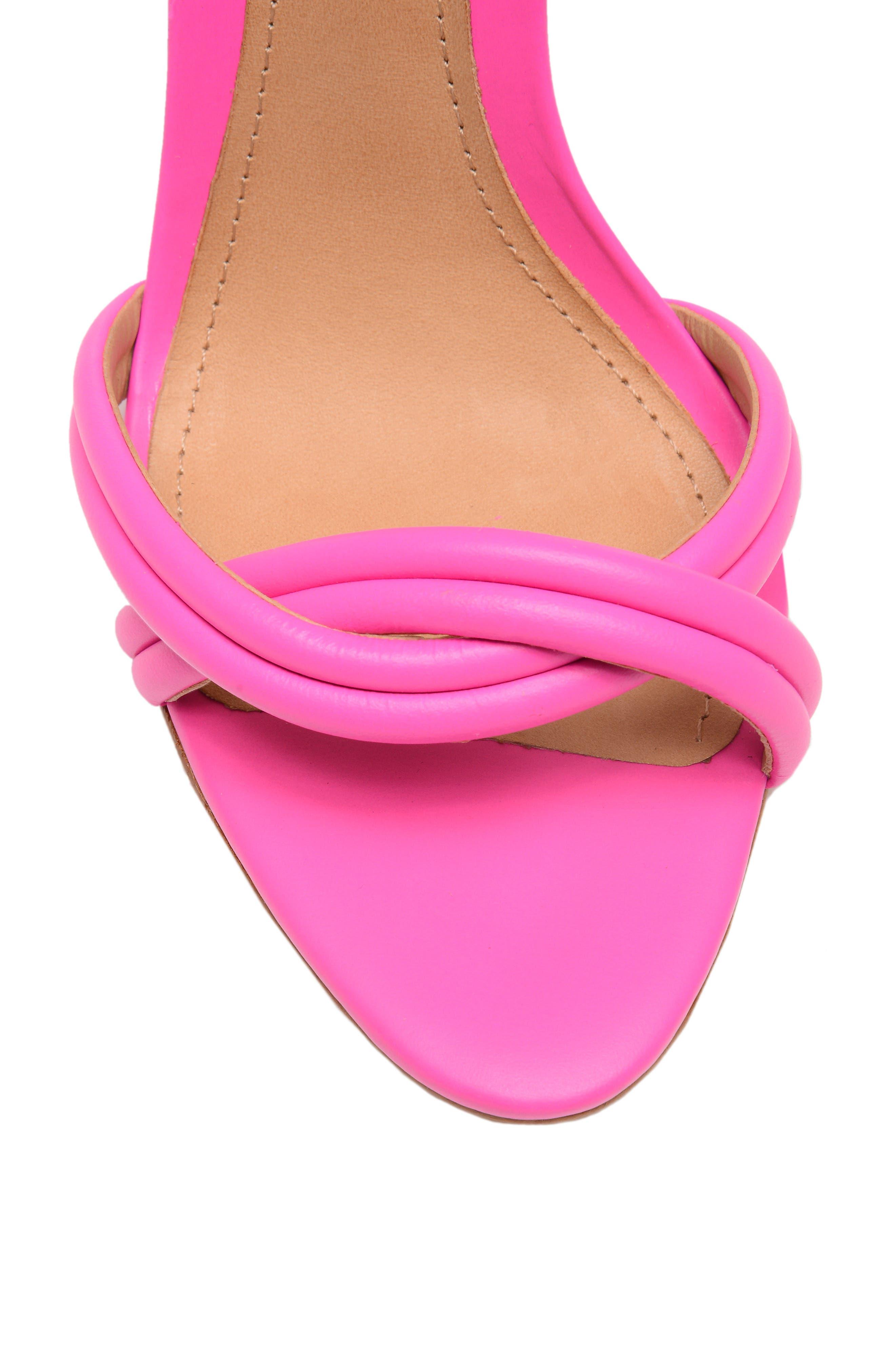 Yvi Strappy Sandal,                             Alternate thumbnail 5, color,                             NEON PINK