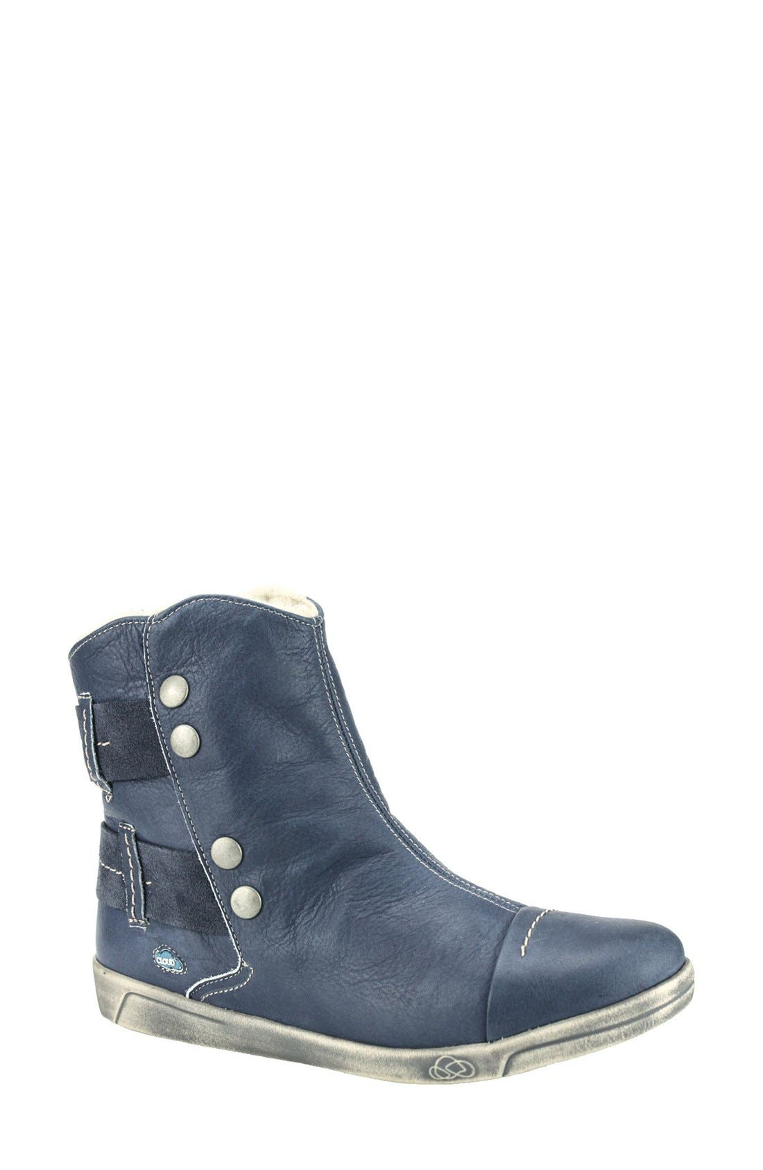 Cloud Aline Fantasy Shearling Lined Boot, Blue