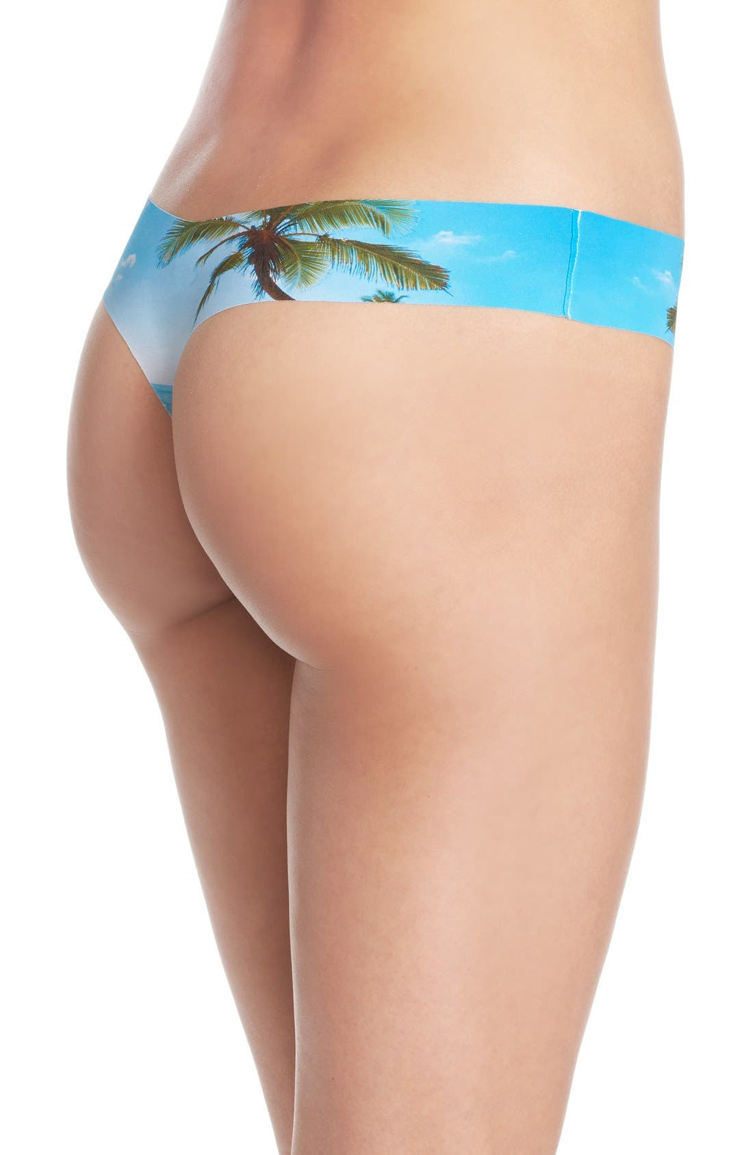 Print Microfiber Thong,                             Alternate thumbnail 231, color,