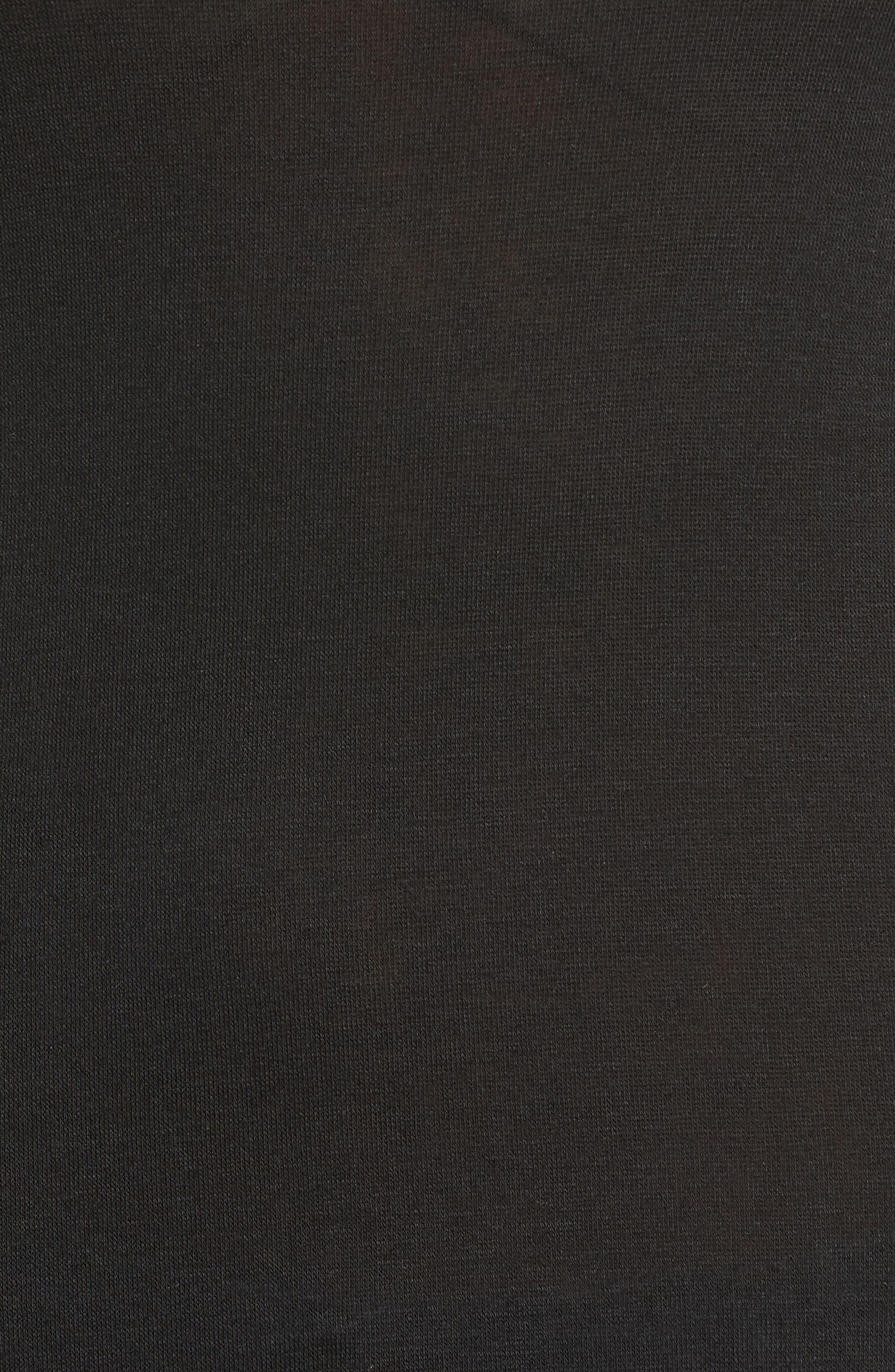 Sheer Knit Tee,                             Alternate thumbnail 5, color,                             001