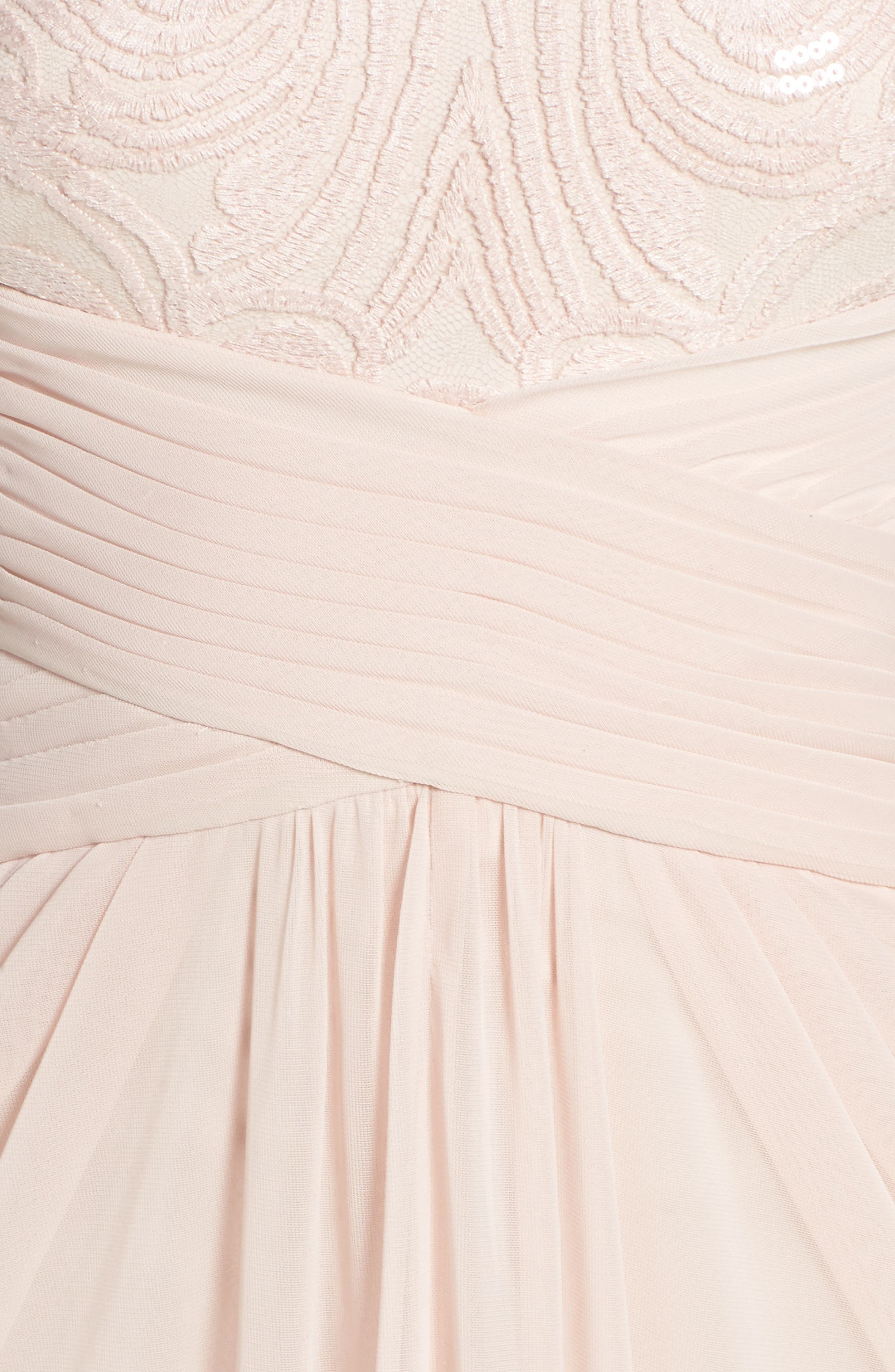 Sequin Lace & Tulle Gown,                             Alternate thumbnail 15, color,