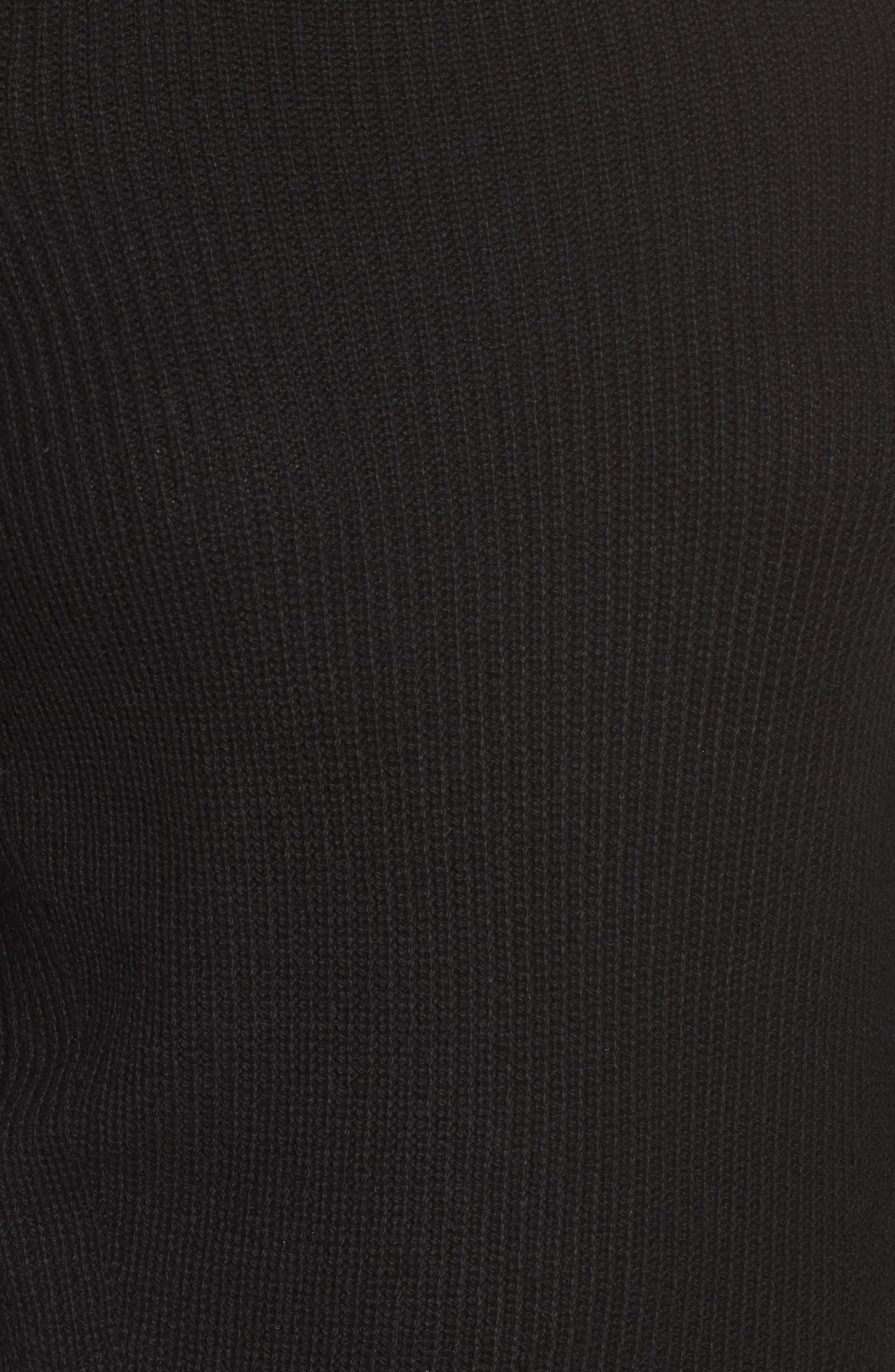 Cold Shoulder Pullover,                             Alternate thumbnail 5, color,                             001