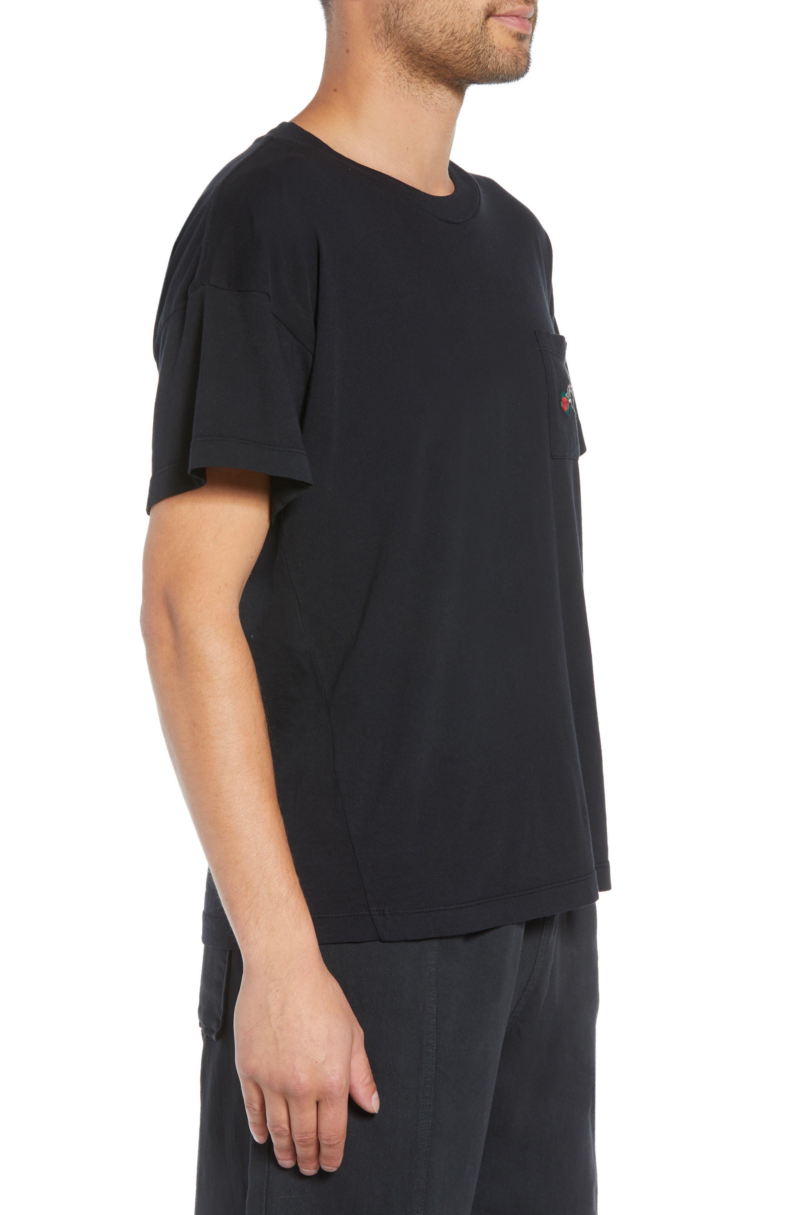 Hayes T-Shirt,                             Alternate thumbnail 3, color,                             BLACK