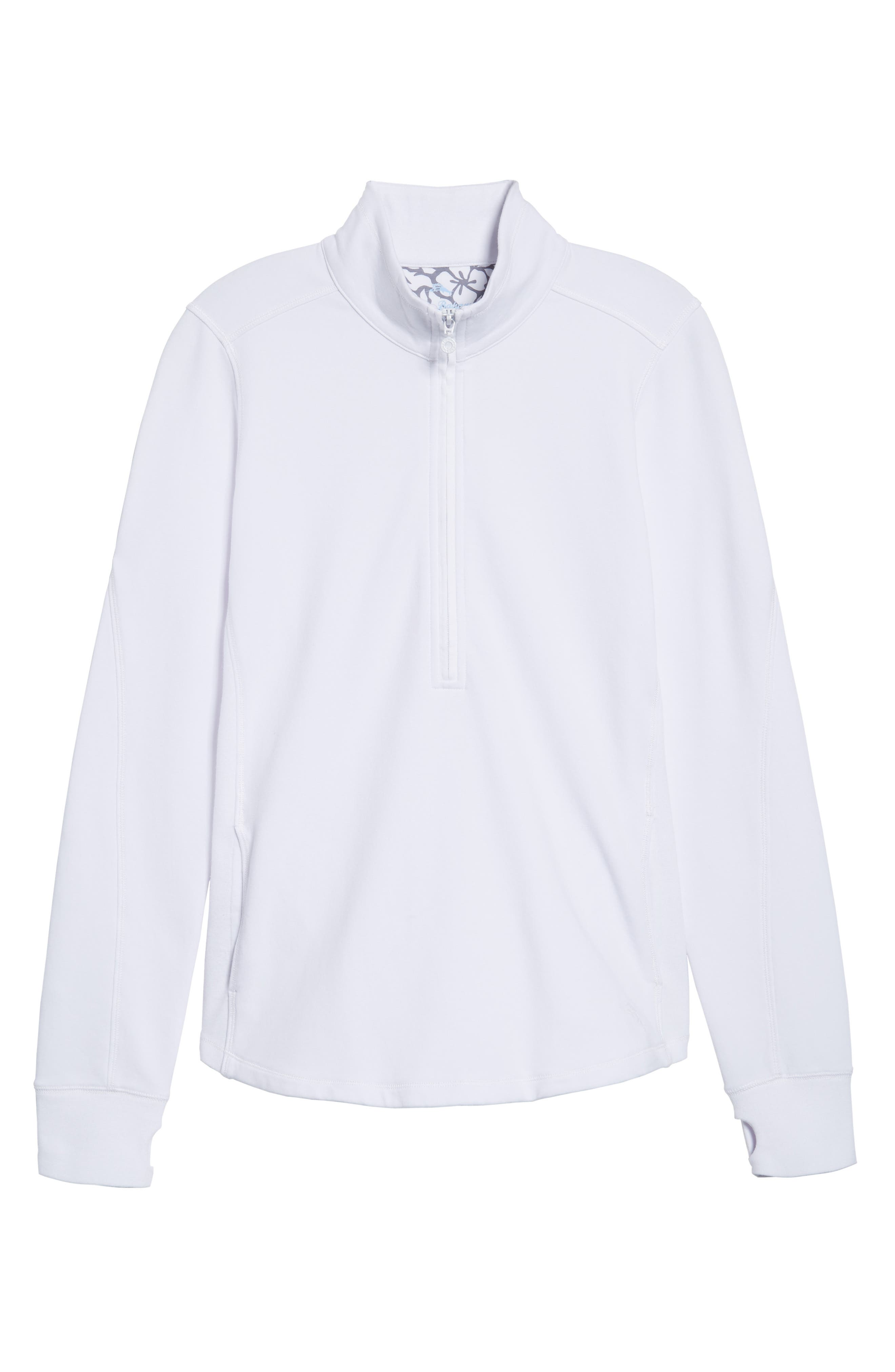 Jen and Terry Half Zip Top,                             Alternate thumbnail 6, color,                             WHITE