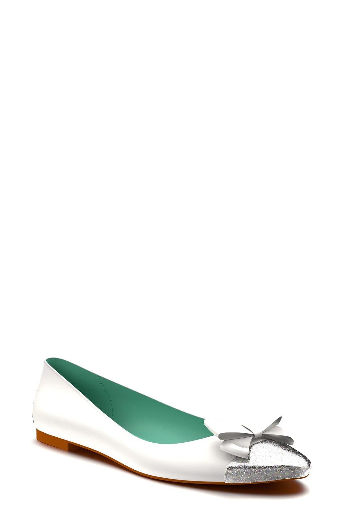 Cap Toe Ballet Flat,                         Main,                         color, 100