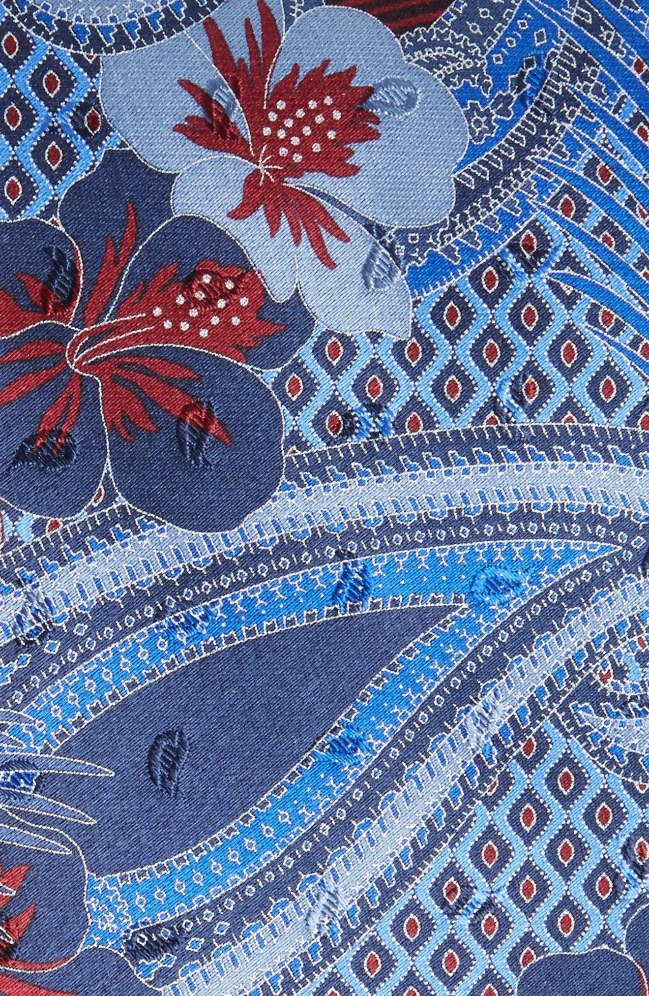 Floral Silk Tie,                             Alternate thumbnail 2, color,                             438
