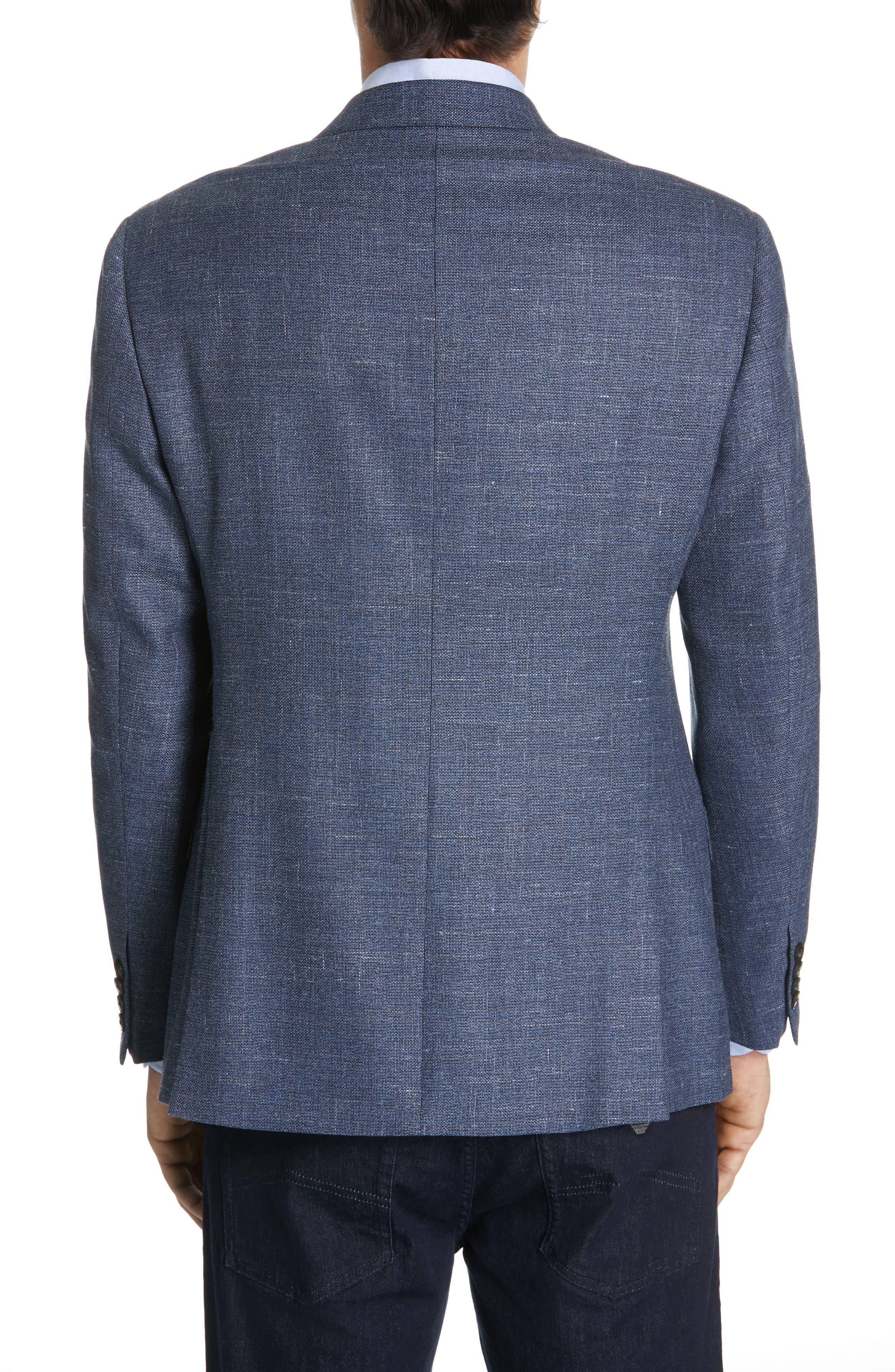 Trim Fit Wool Blend Sport Coat,                             Alternate thumbnail 2, color,                             FANCY BLUE