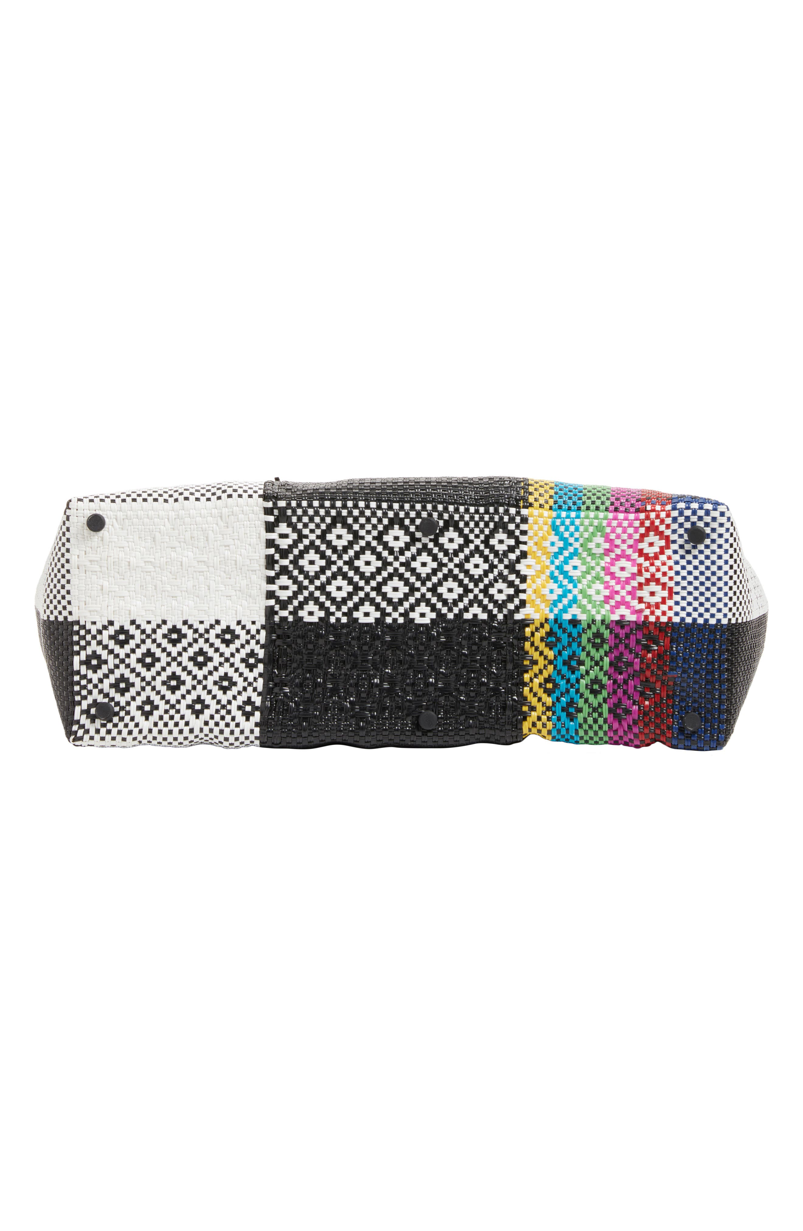 Woven Stripe Weekend Tote,                             Alternate thumbnail 6, color,                             TV COLOR