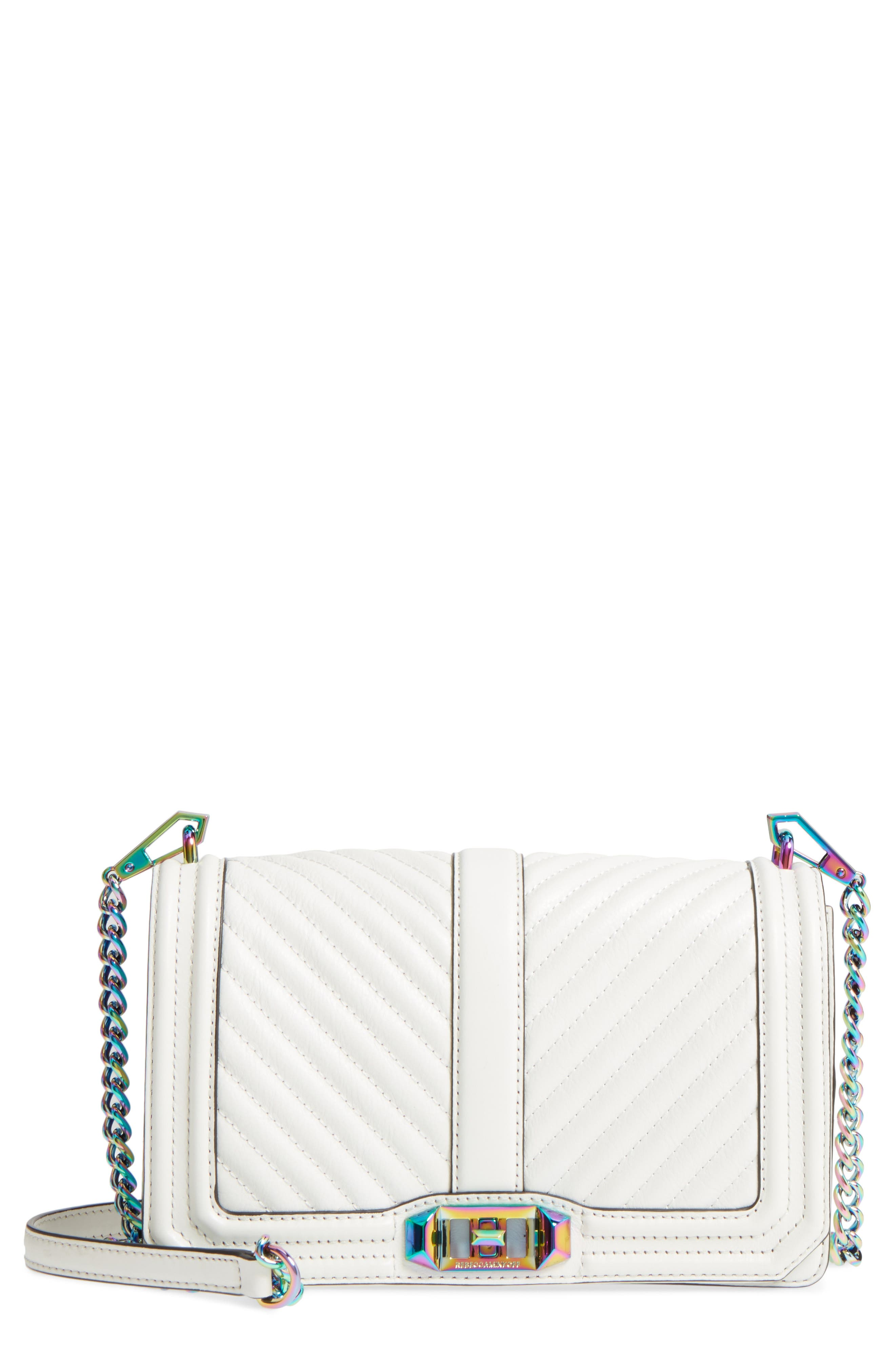 'Chevron Quilted Love' Crossbody Bag,                             Main thumbnail 6, color,