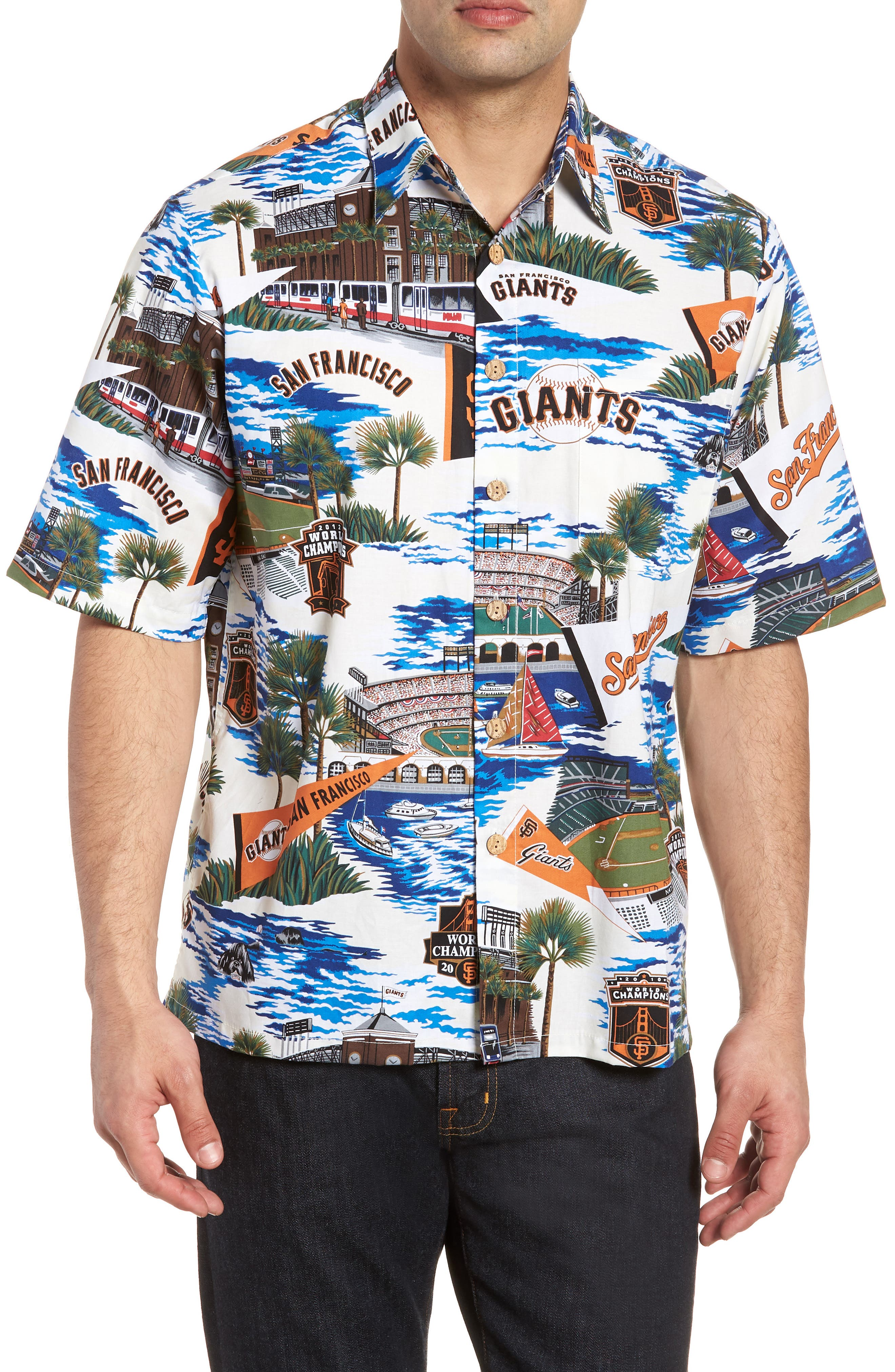 San Francisco Giants Classic Fit Camp Shirt,                             Main thumbnail 1, color,