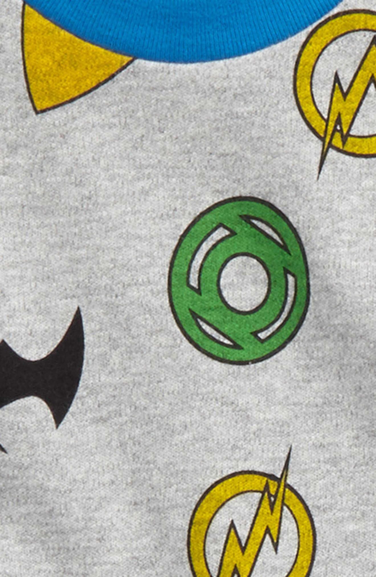 Justice League<sup>™</sup> Fitted Two-Piece Pajamas,                             Alternate thumbnail 2, color,