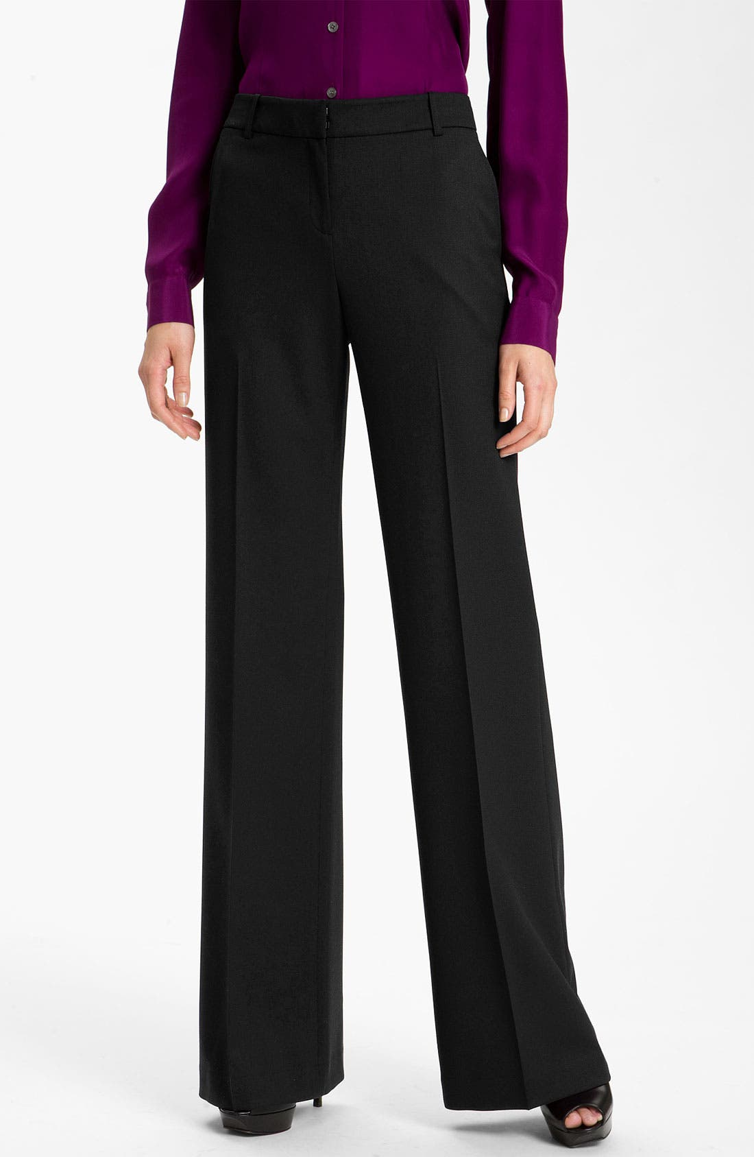 Stretch Wool Pants,                         Main,                         color, 002