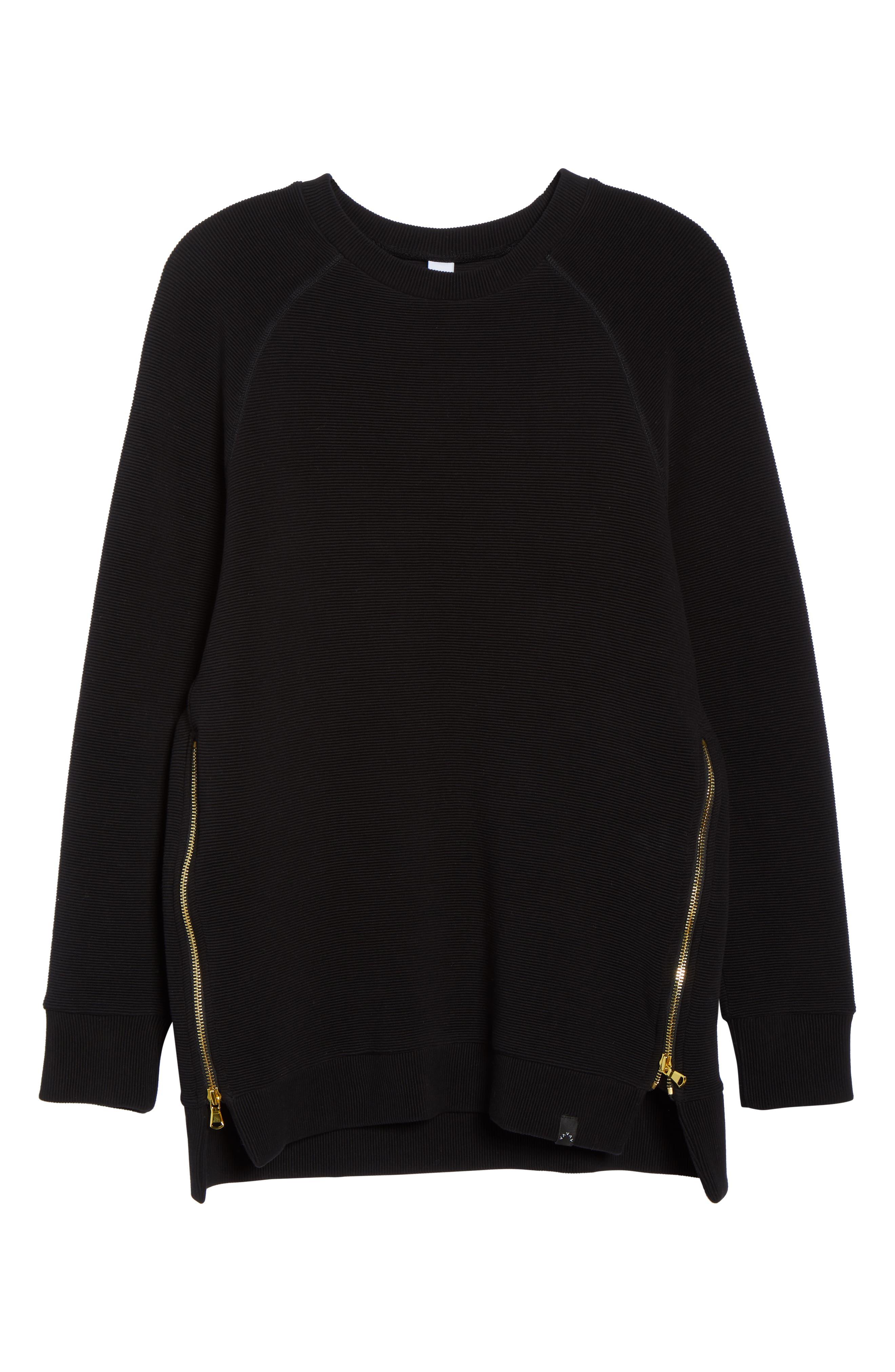 Manning Sweatshirt,                             Alternate thumbnail 7, color,                             BLACK RIB