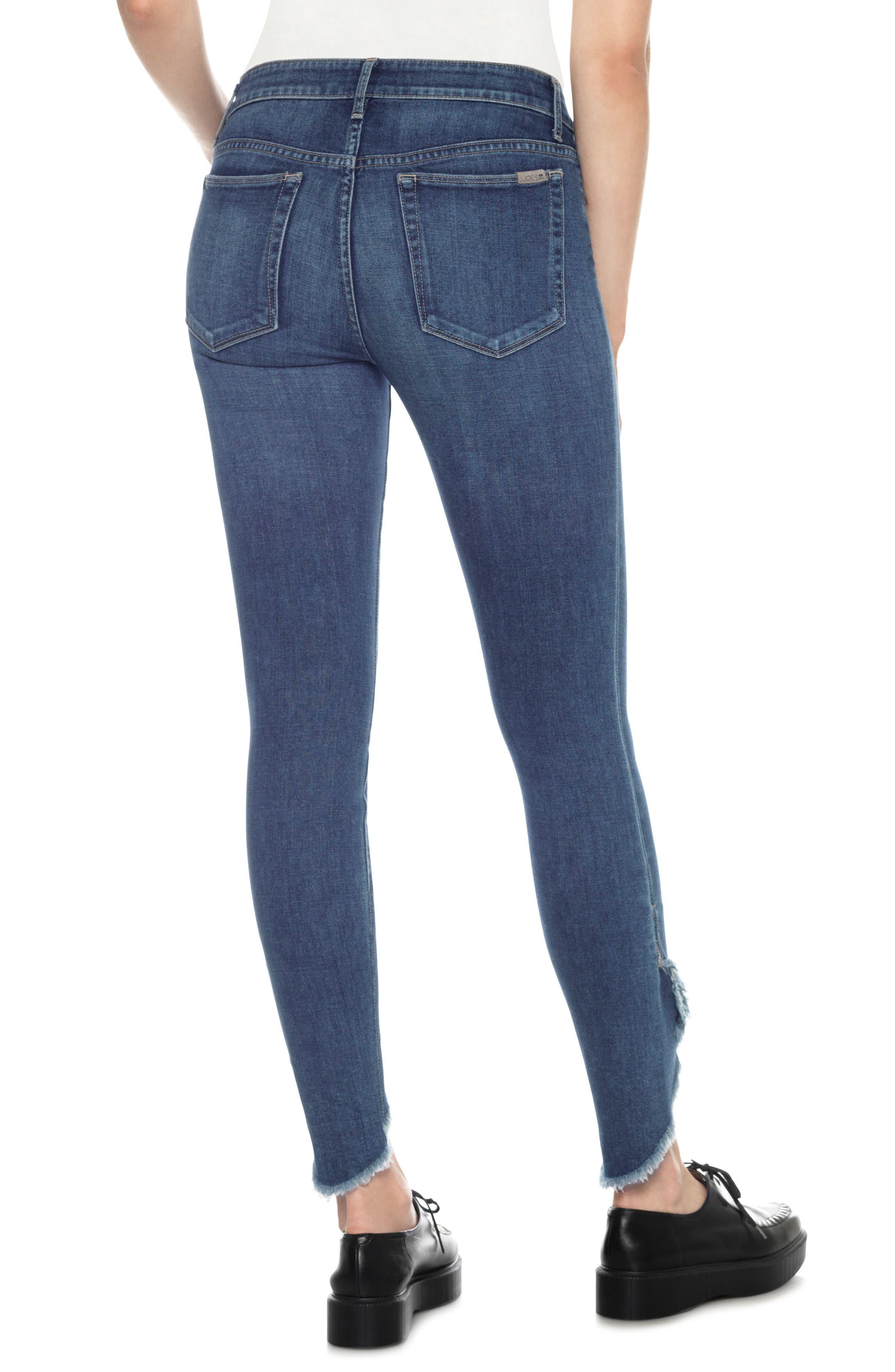 Icon Tulip Hem Skinny Jeans,                             Alternate thumbnail 2, color,                             411