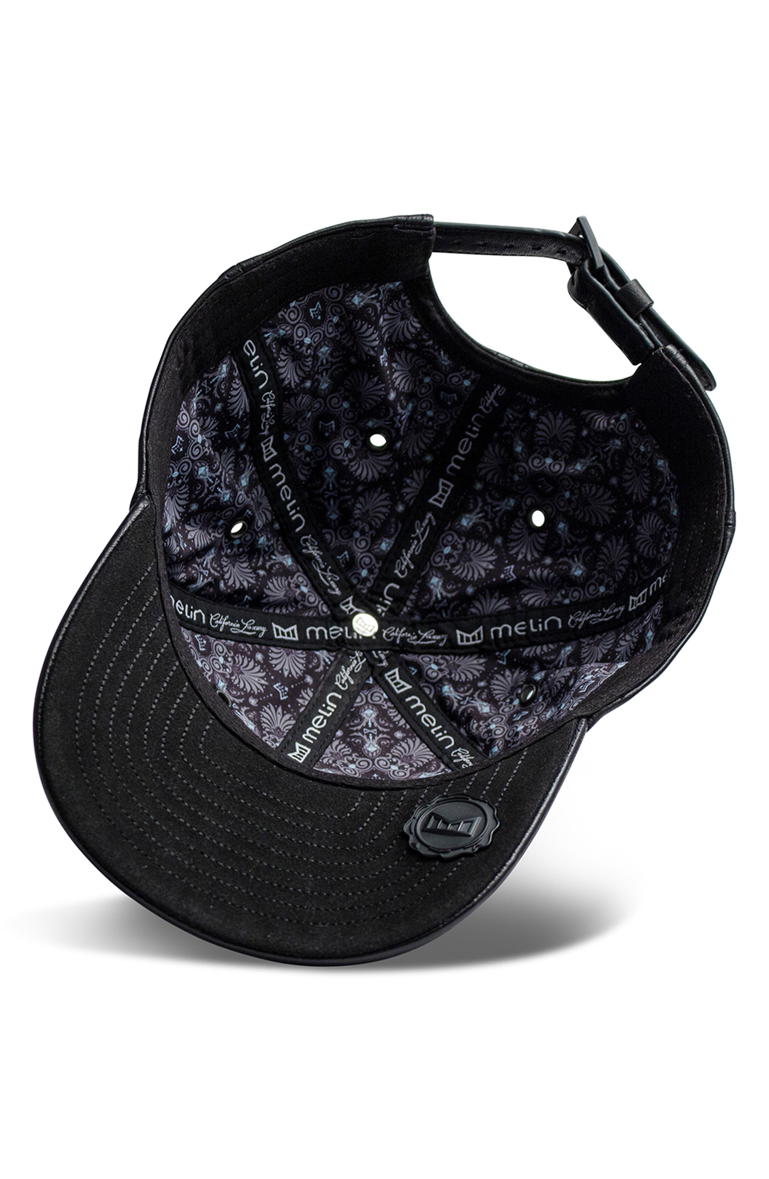 Voyage Elite Leather Ball Cap,                             Alternate thumbnail 5, color,                             BLACK