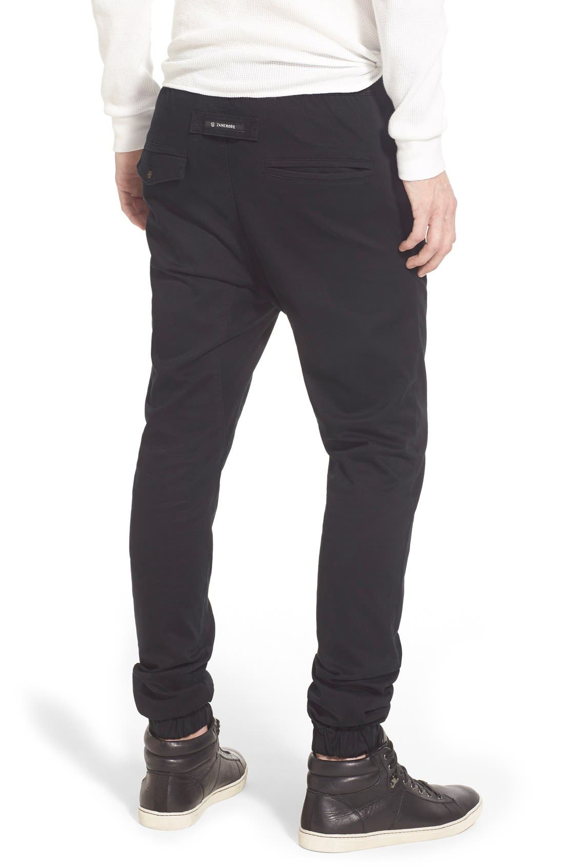 'Sureshot' Slim Tapered Leg Jogger Chinos,                             Alternate thumbnail 7, color,                             BLACK