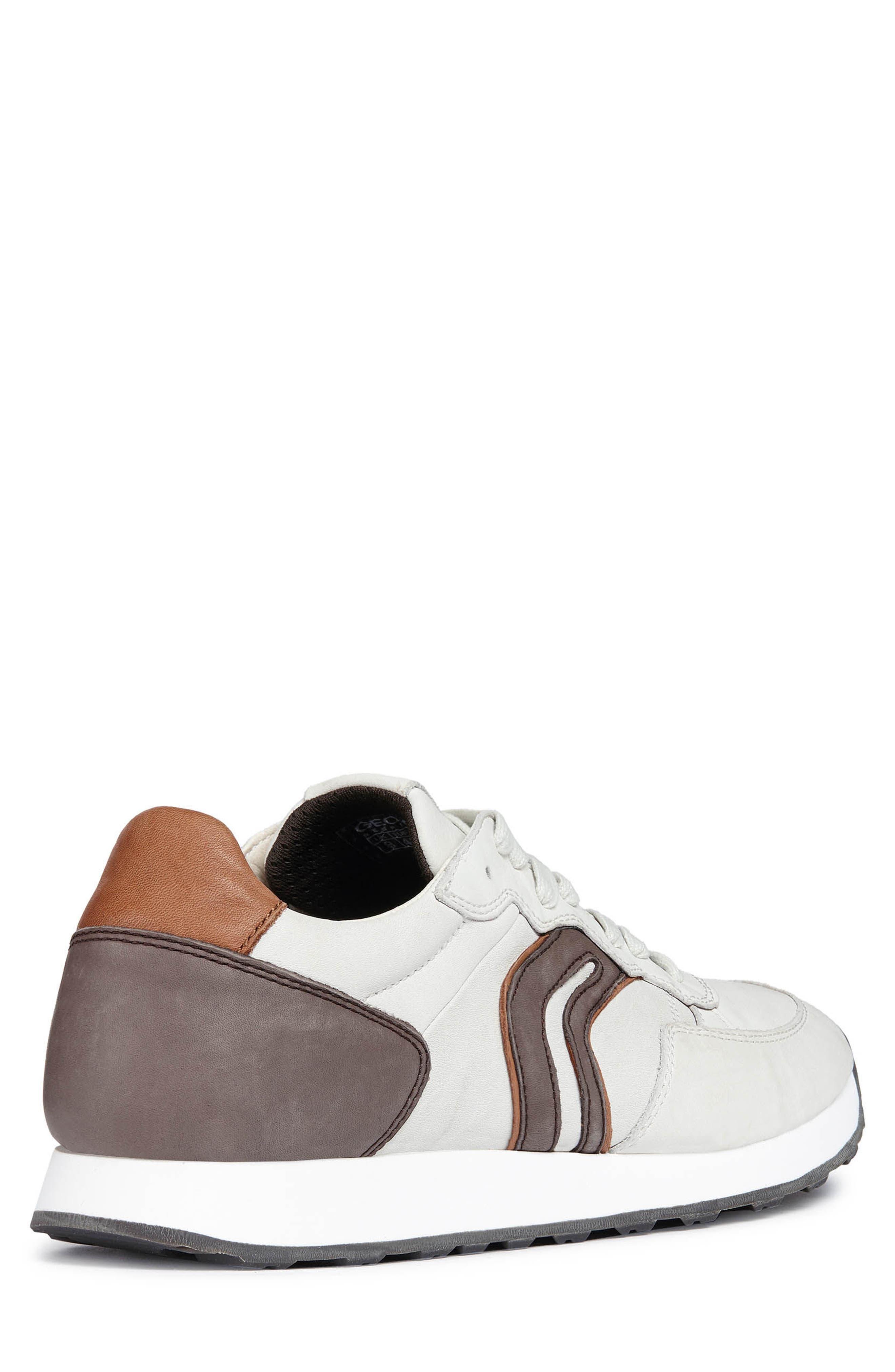 Vincint 1 Sneaker,                             Alternate thumbnail 2, color,                             WHITE/ DARK COFFEE LEATHER