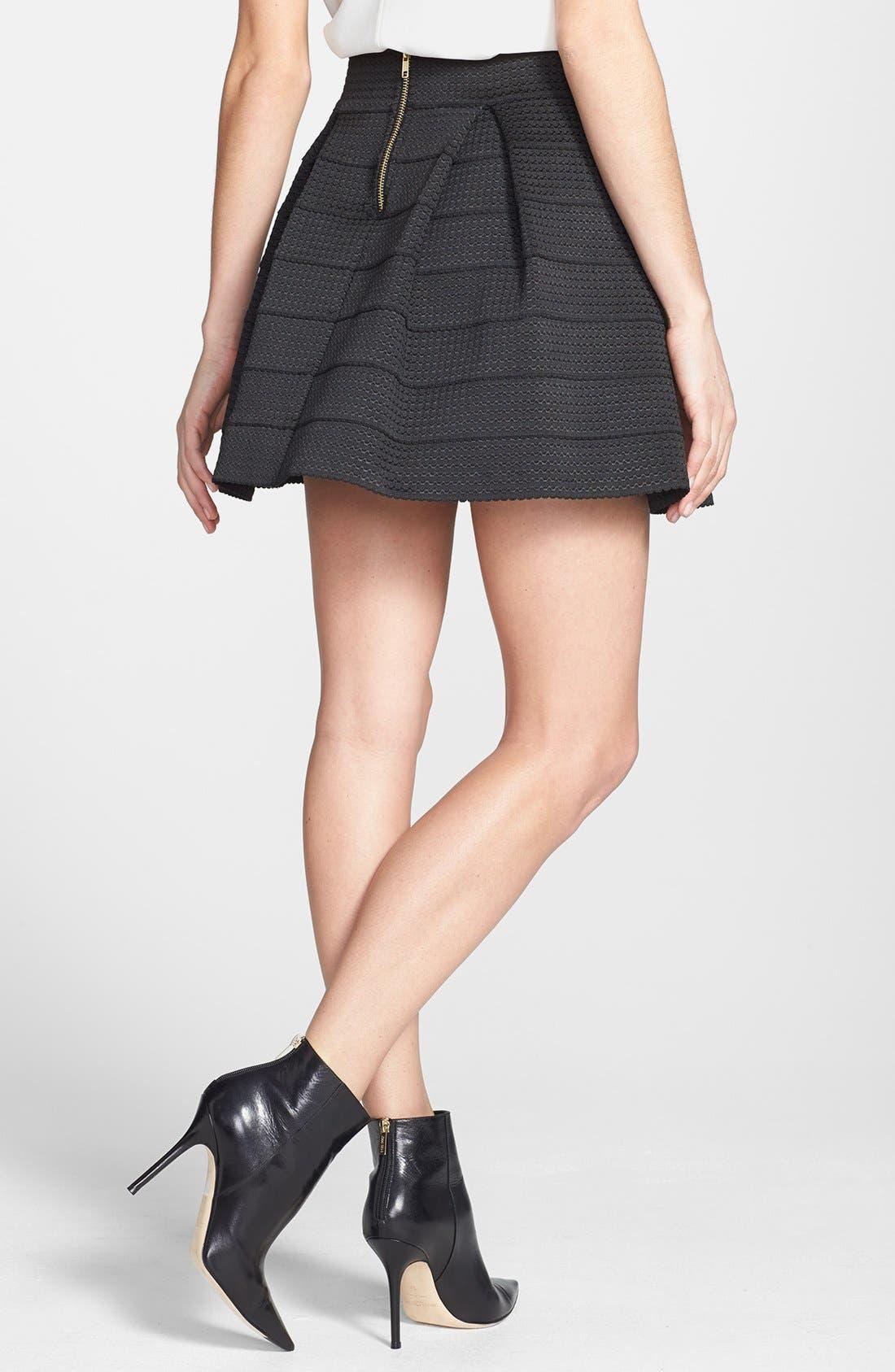 Pleated Skirt,                             Alternate thumbnail 4, color,                             001