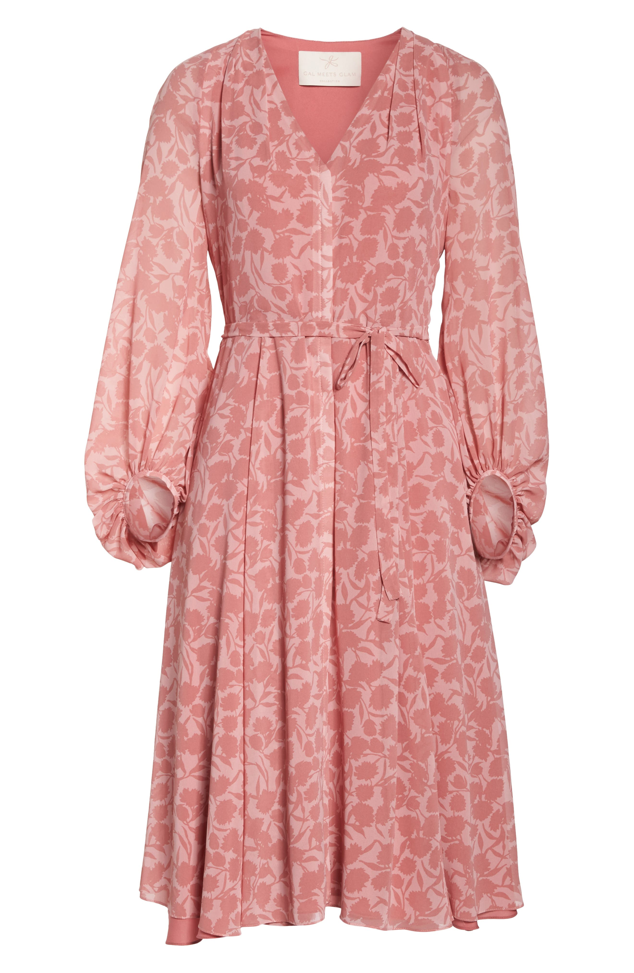 Esther Shadow Branch Chiffon Dress,                             Alternate thumbnail 7, color,                             690
