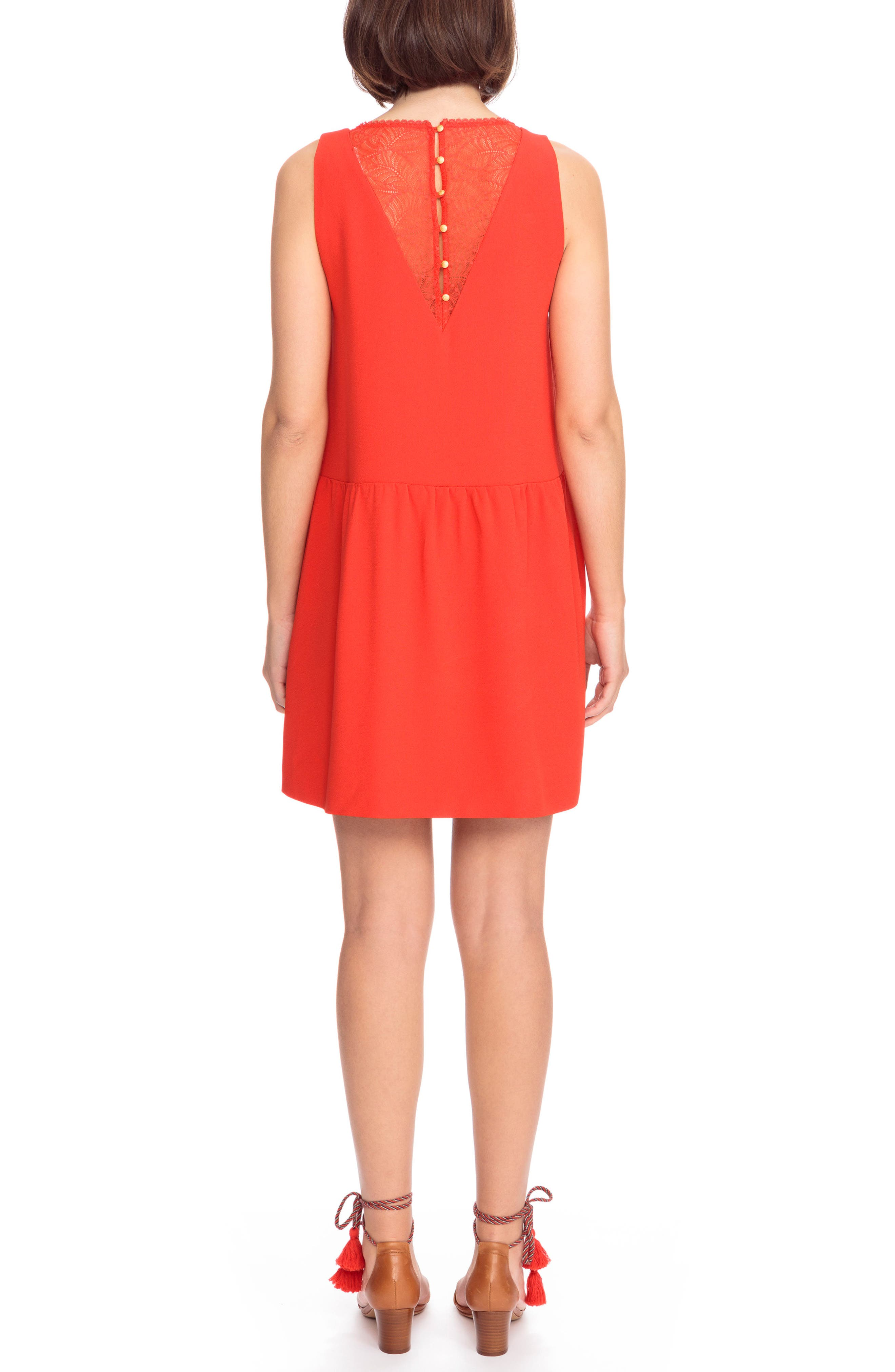 Rosalie Lace Detail Shift Dress,                             Alternate thumbnail 2, color,                             600