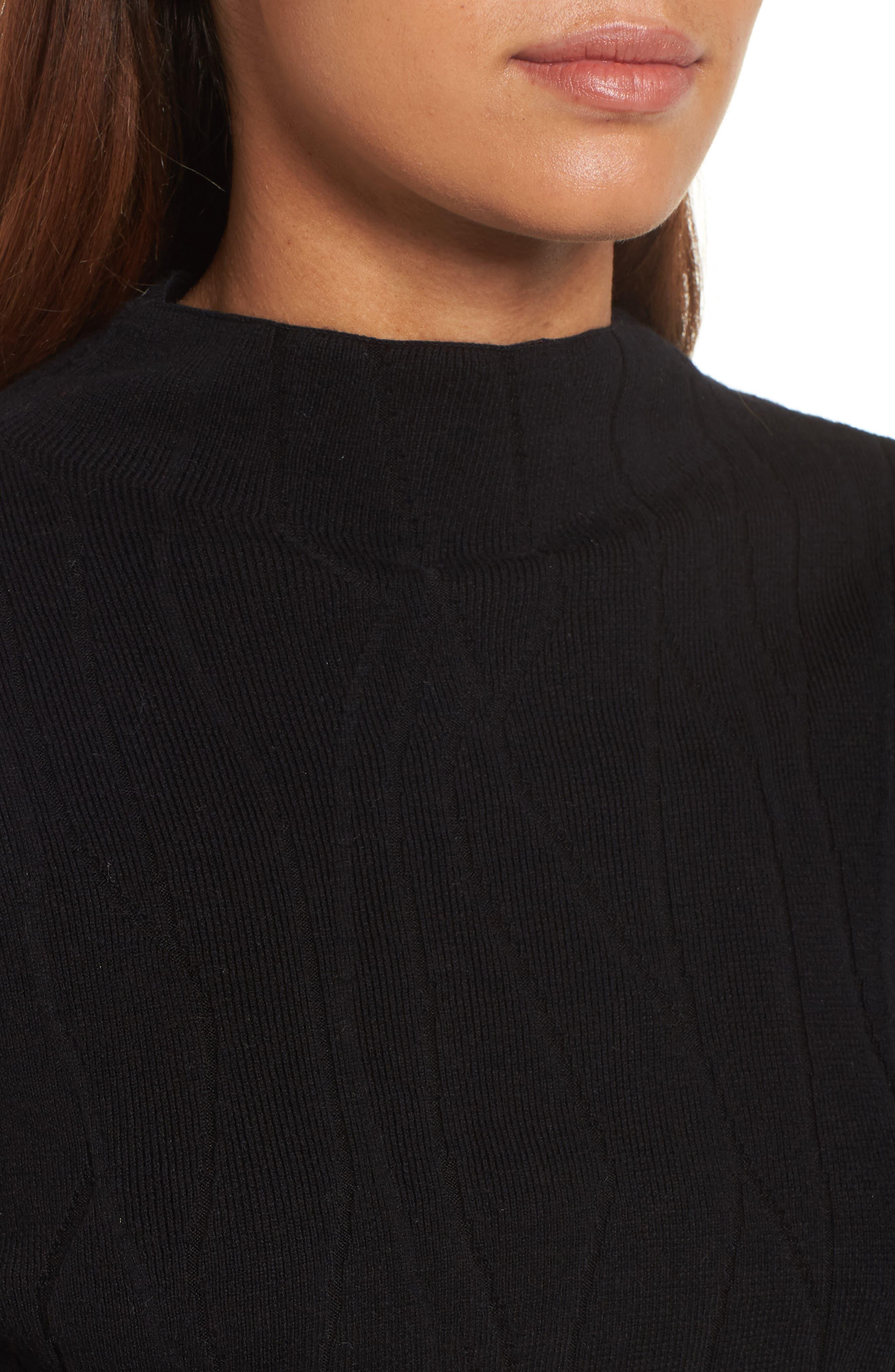 Artisanal Crackle Jacquard Sweater,                             Alternate thumbnail 4, color,                             004