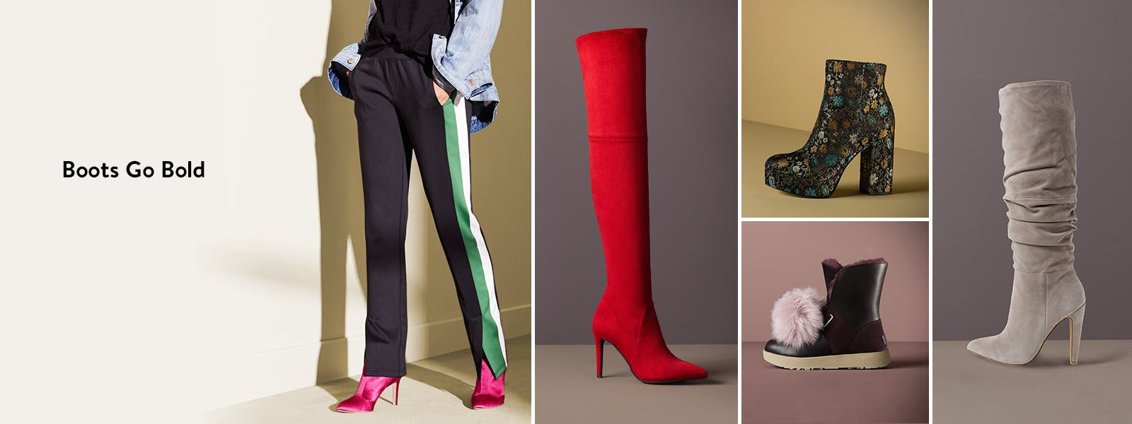 Boots go bold: booties, over-the-knee, under $150, rain and winter, knee-high