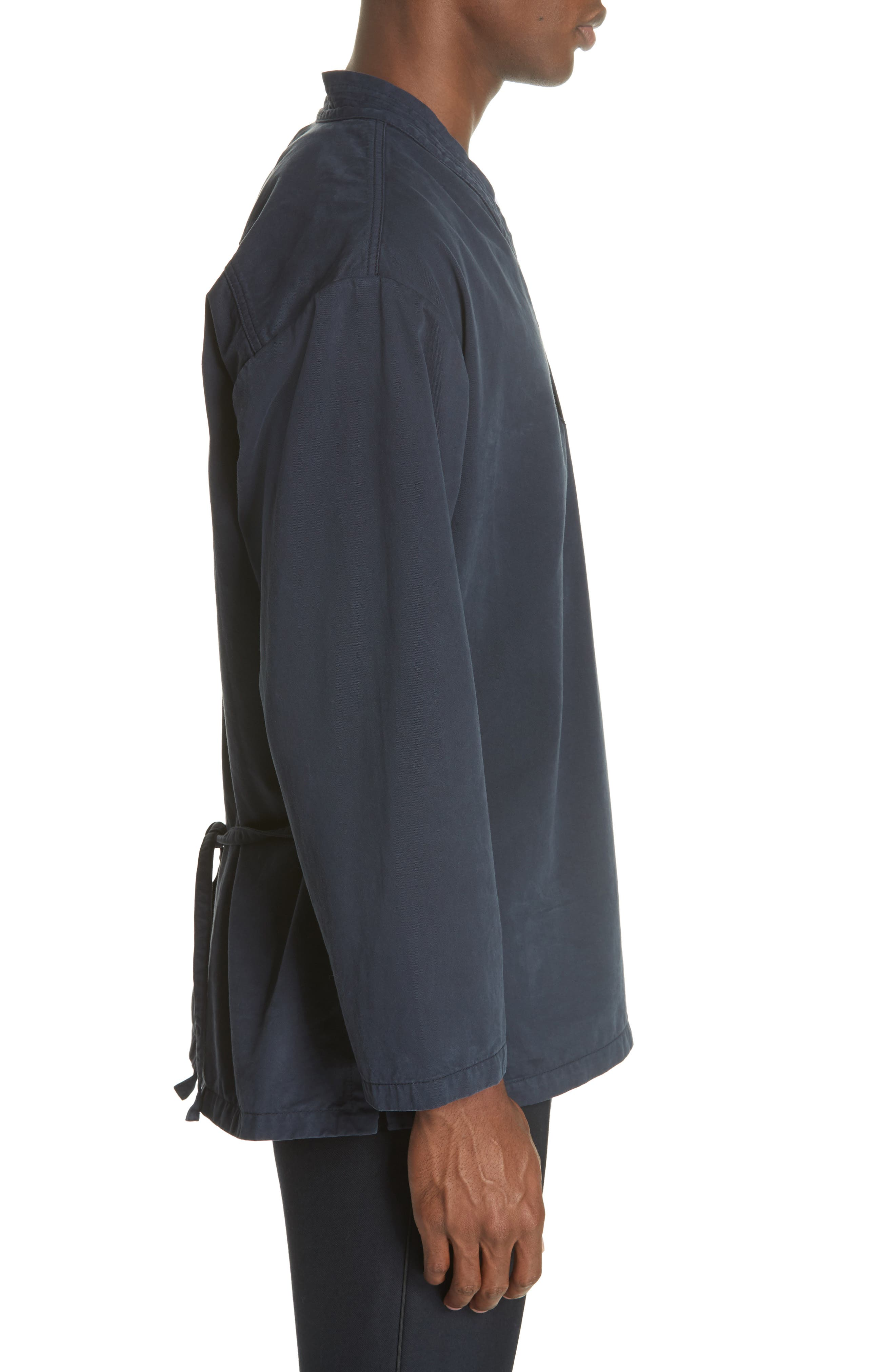 Canis Bis Kimono Pullover,                             Alternate thumbnail 3, color,                             NAVY 509