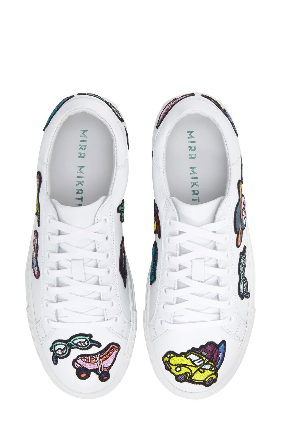 MIRA MIKATI,                             'Patches' Low Top Sneaker,                             Alternate thumbnail 5, color,                             111