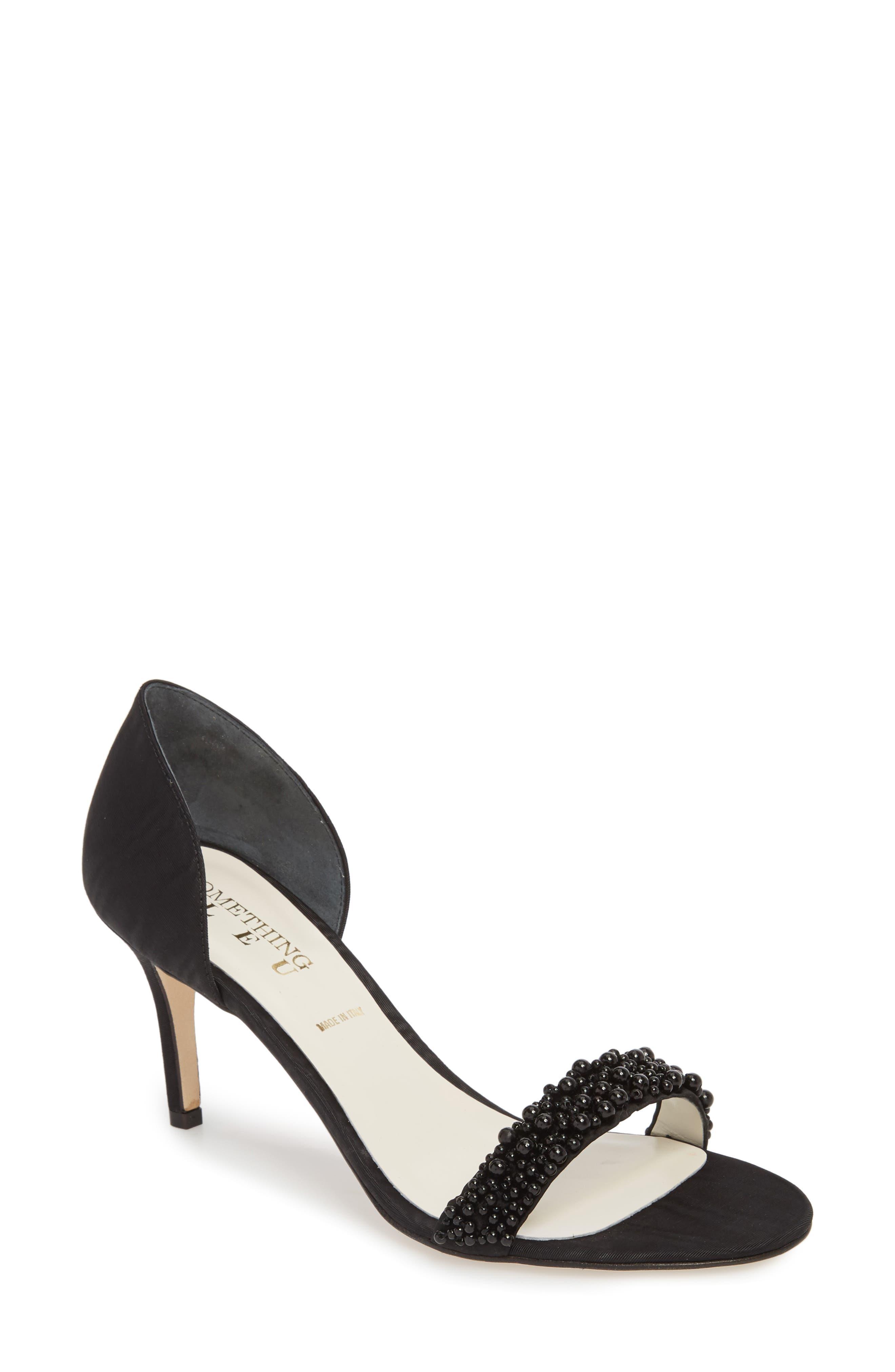 Cappy d'Orsay Sandal,                         Main,                         color, BLACK MOIRE